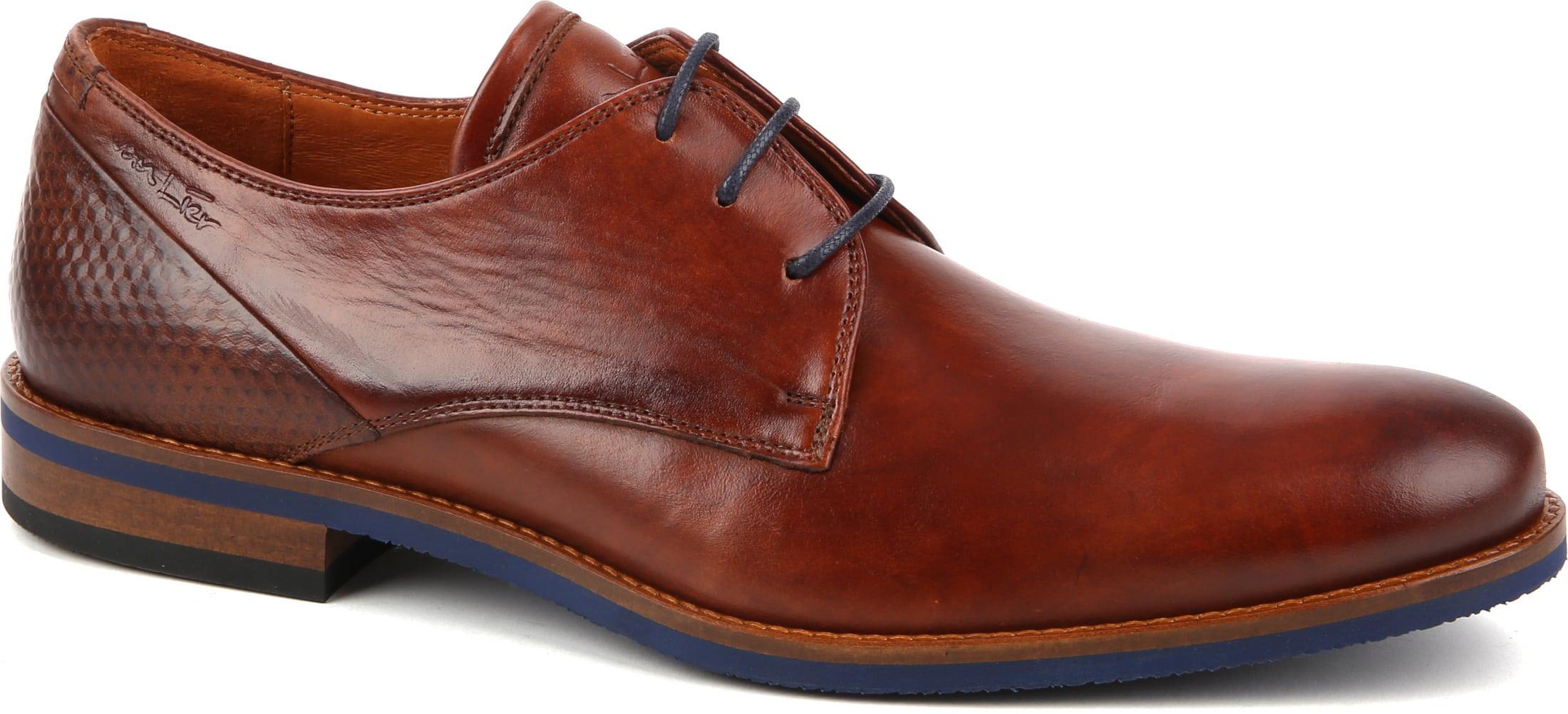 Van Lier Dress Shoes Nubuck Combi Cognac foto 0