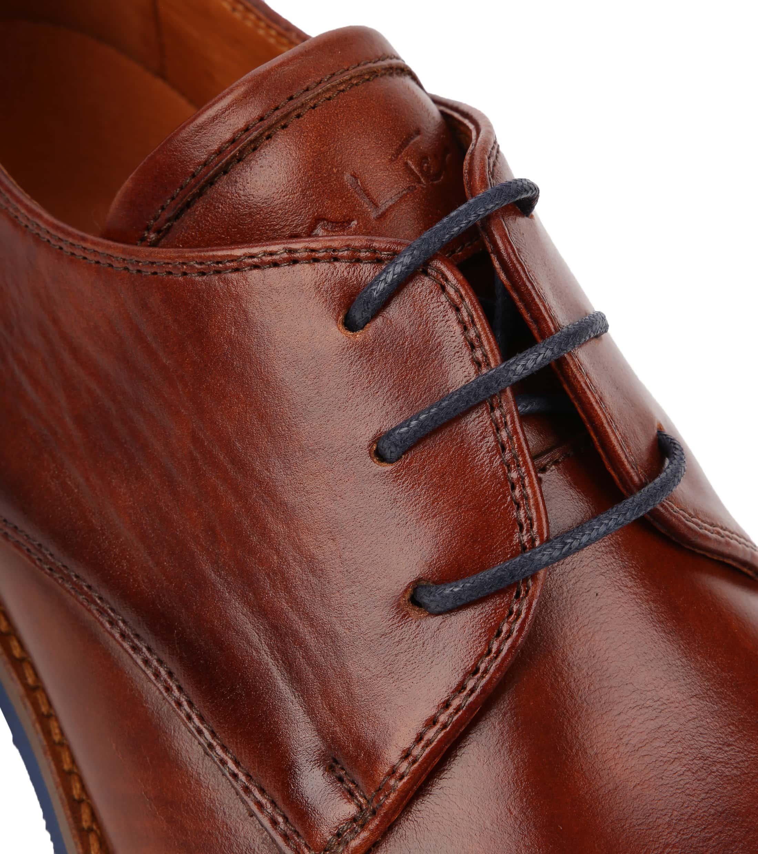 Van Lier Dress Shoes Nubuck Combi Cognac foto 1