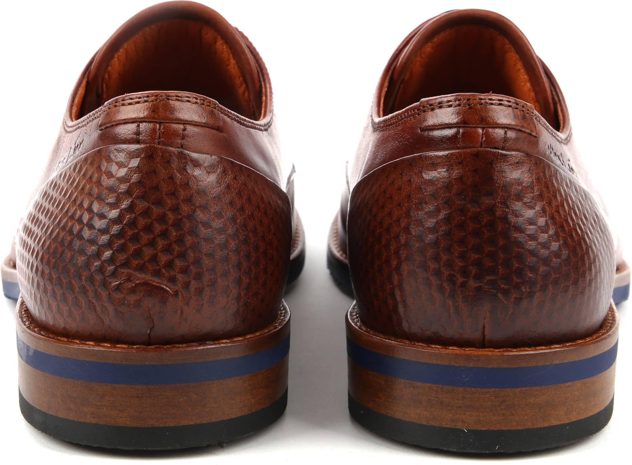 Van Lier Dress Shoes Nubuck Combi Cognac foto 2