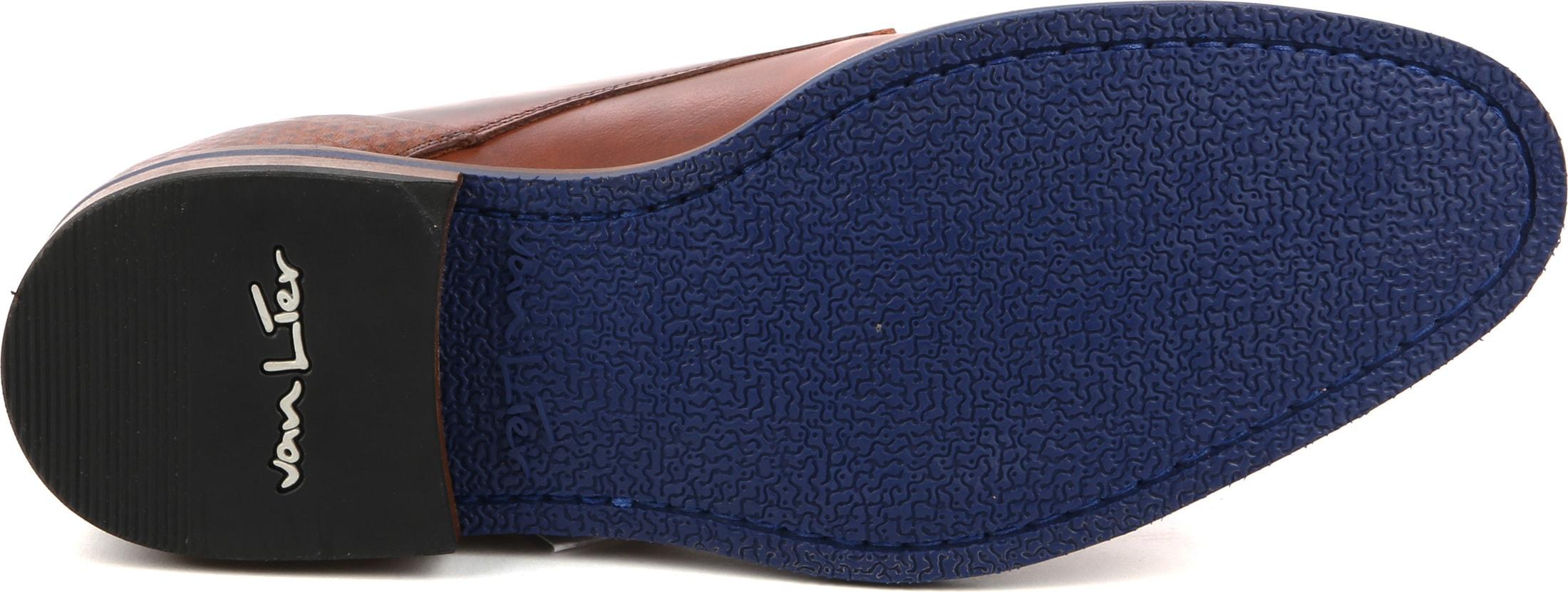 Van Lier Dress Shoes Nubuck Combi Cognac foto 3