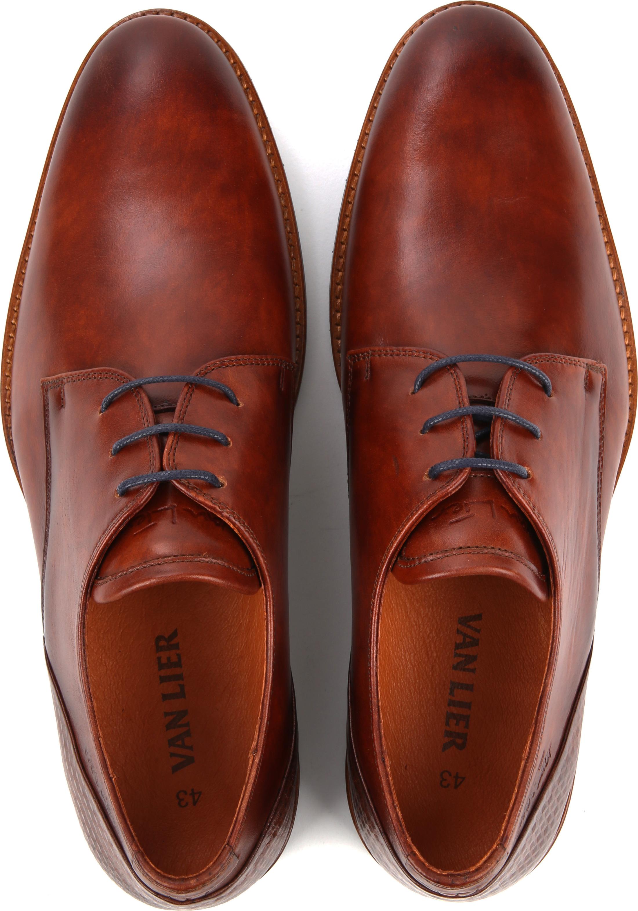 Van Lier Dress Shoes Nubuck Combi Cognac foto 4