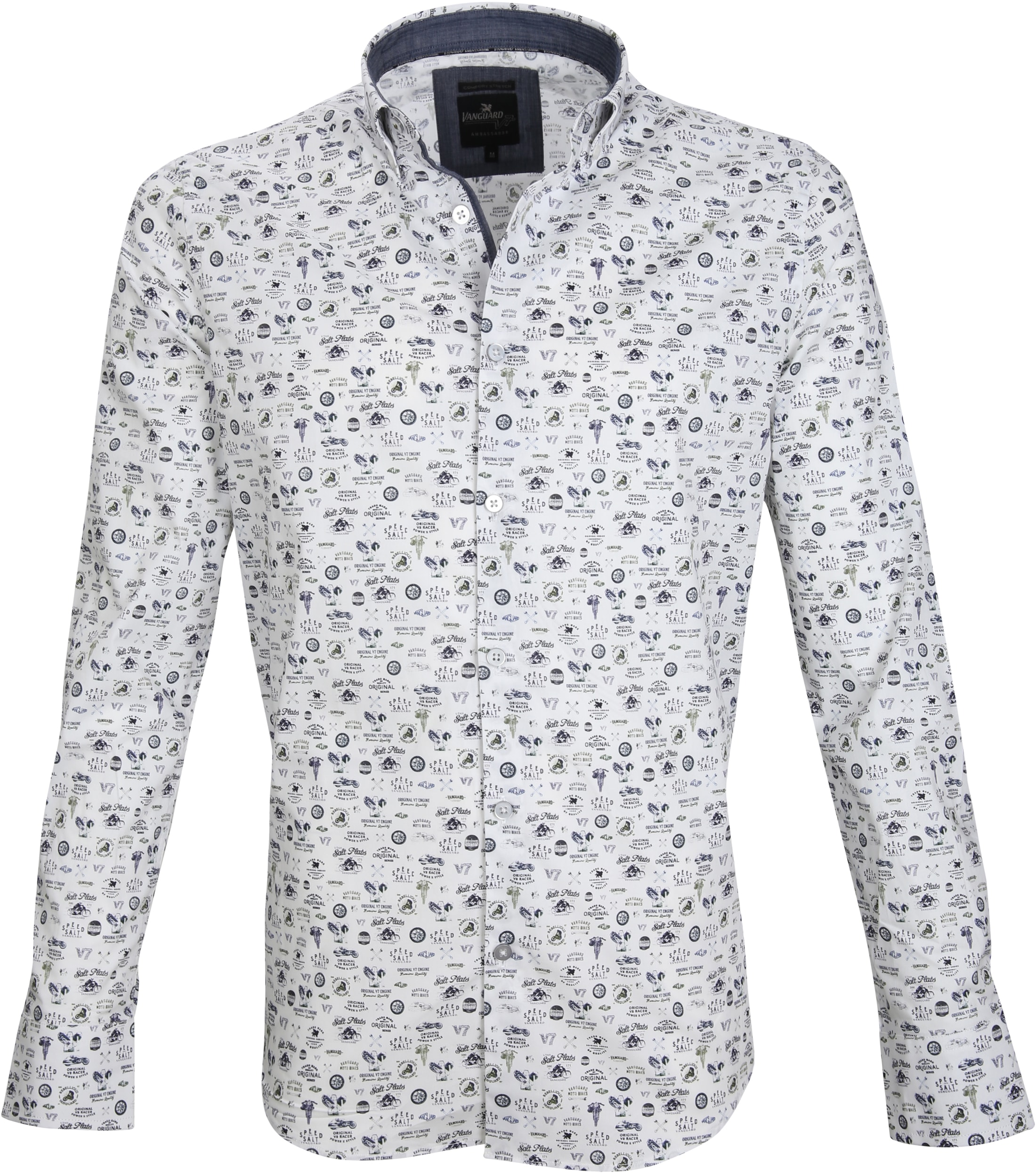 a13a1681a0f Vanguard Casual Shirt Print White VSI186402 order online | Suitable