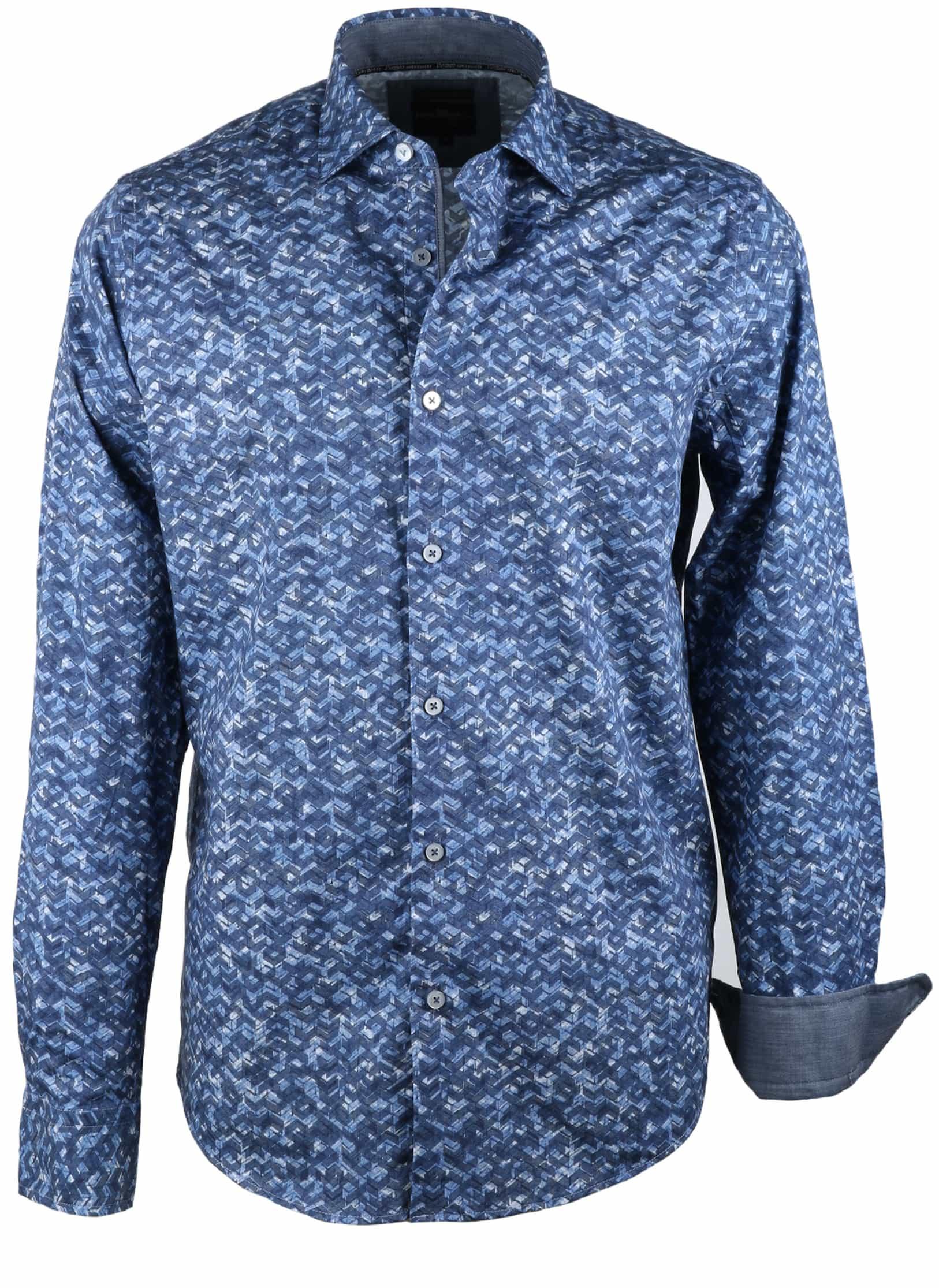 Vanguard Overhemd Blauwe Print foto 0