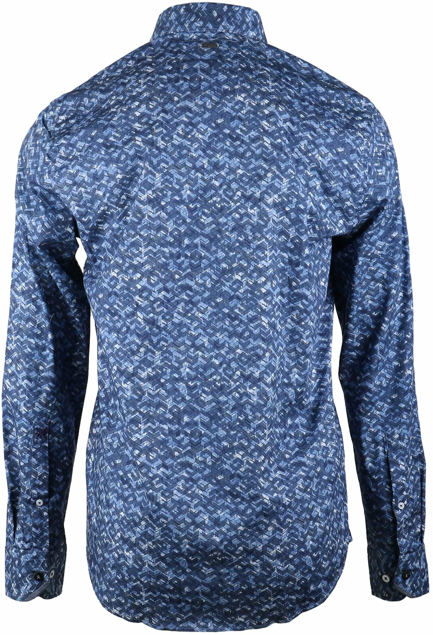 Vanguard Overhemd Blauwe Print foto 1