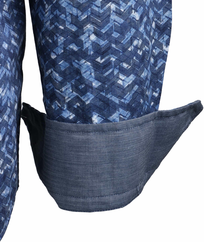 Vanguard Overhemd Blauwe Print foto 2