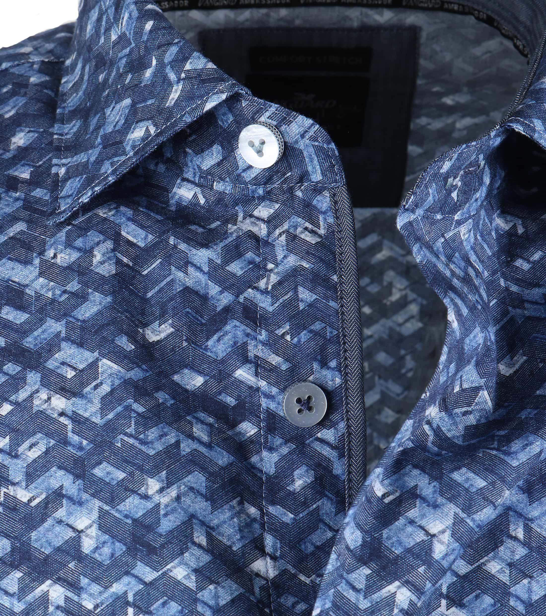 Vanguard Overhemd Blauwe Print foto 3