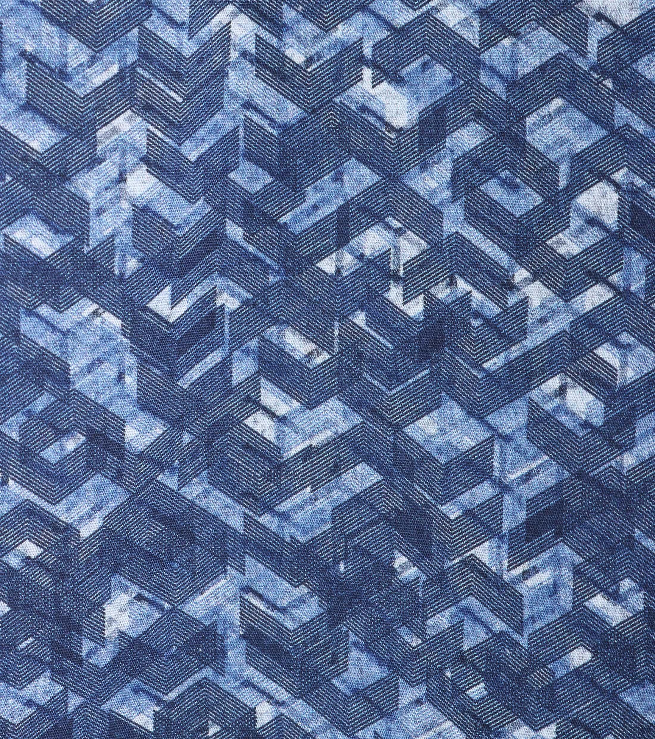 Vanguard Overhemd Blauwe Print foto 4