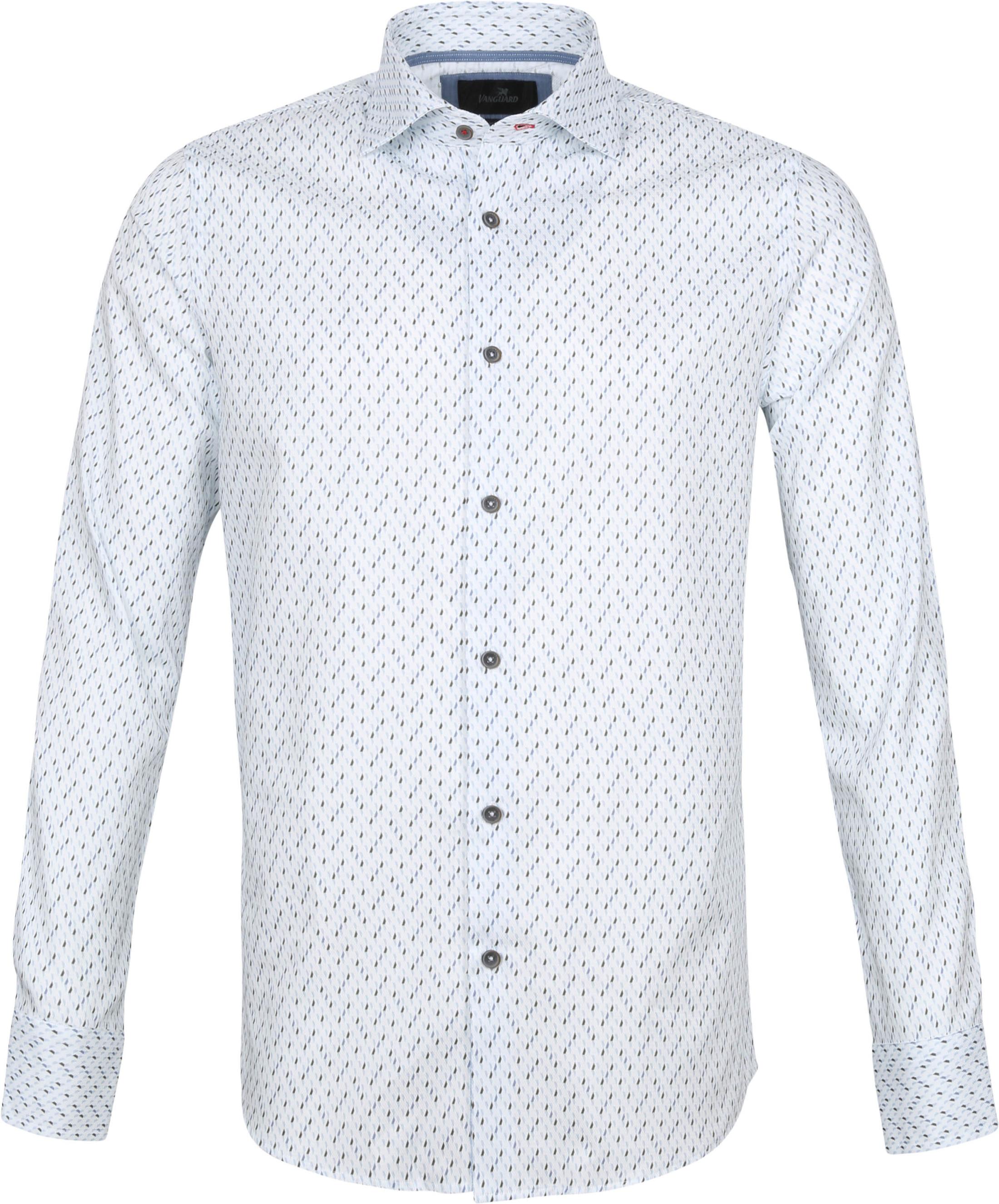 Vanguard Overhemd Patroon Wit