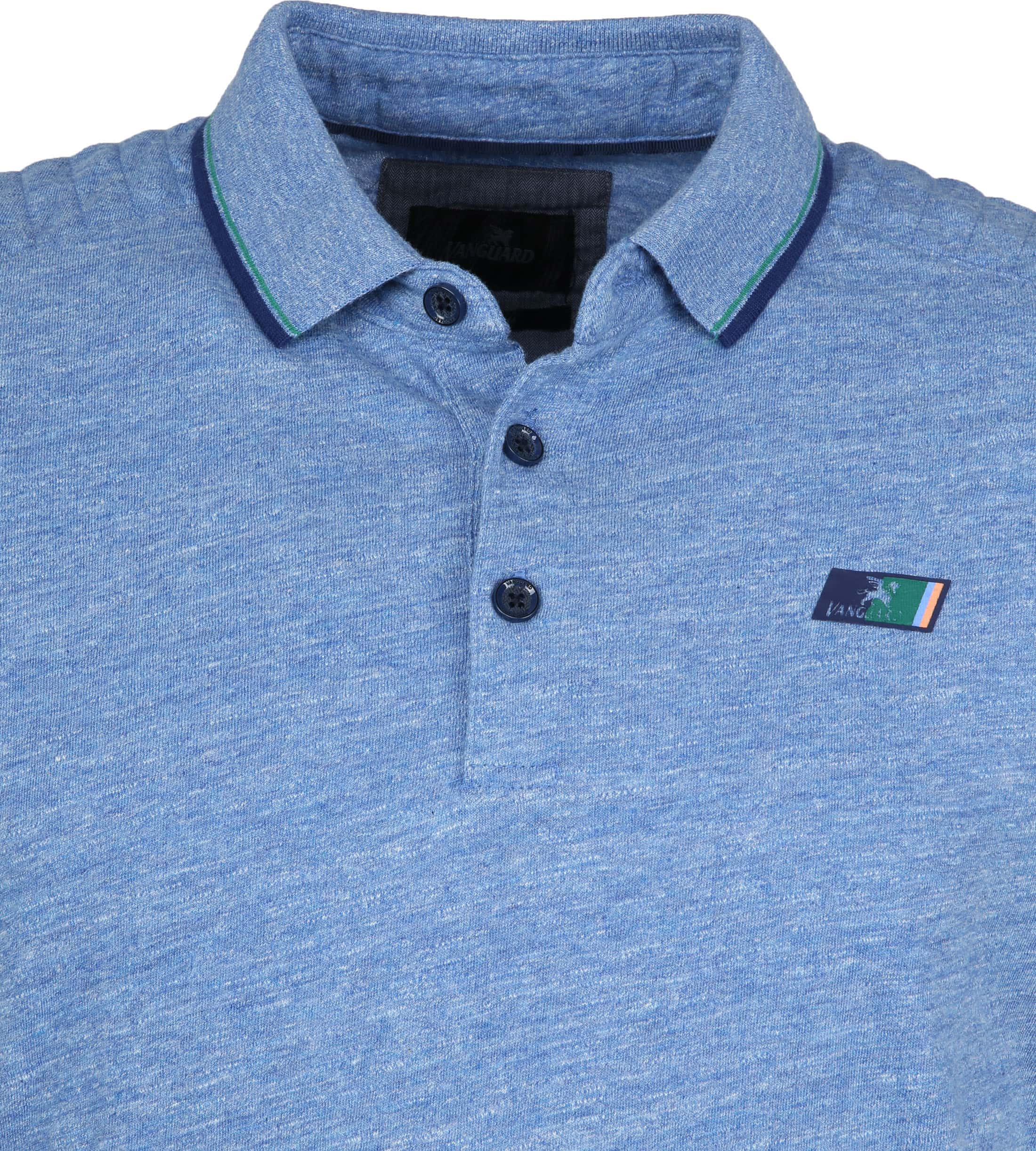 Vanguard Polo Mouline Jersey Blauw