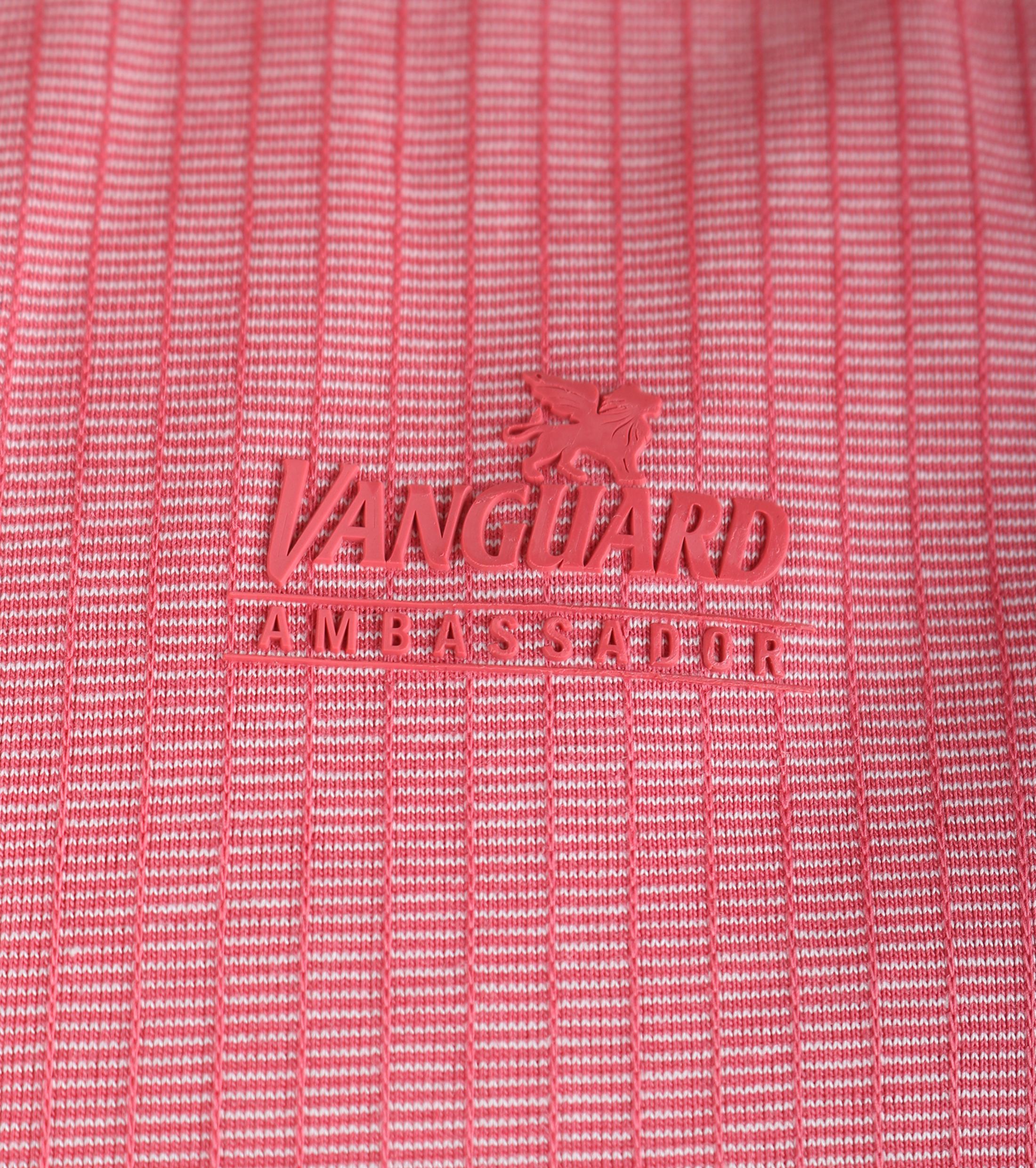 Vanguard Poloshirt Rood Jacquard foto 2