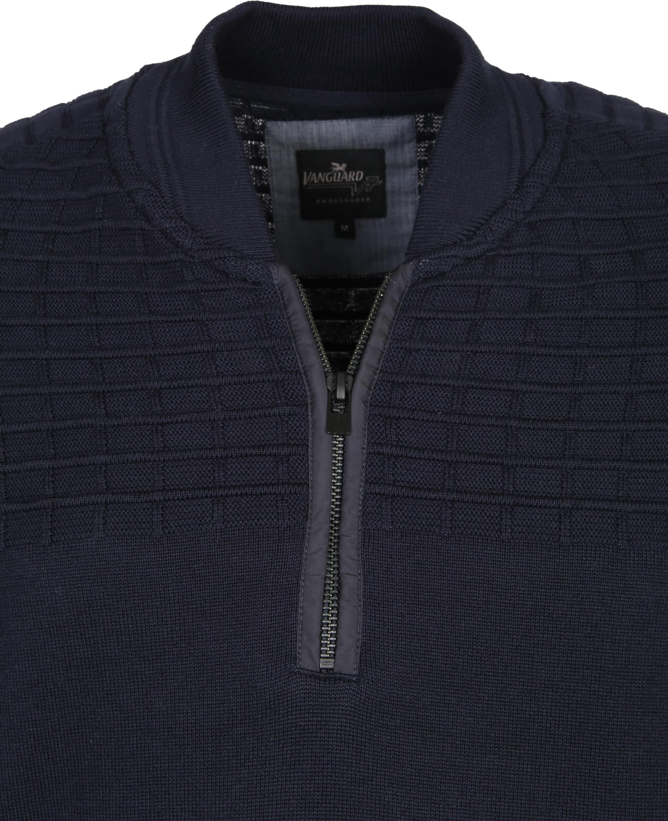 Vanguard Pullover Zipper Navy foto 1