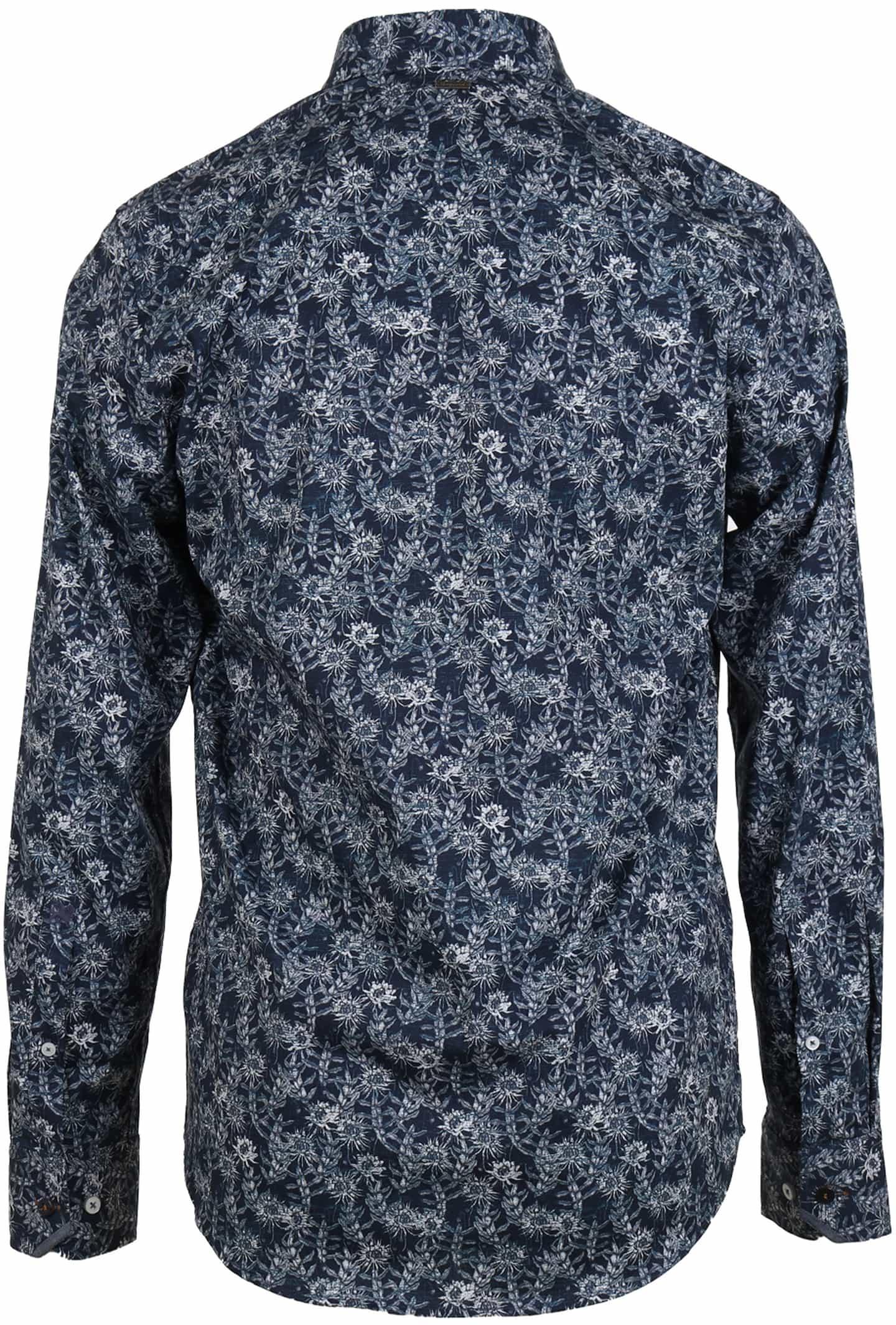 Vanguard Shirt Donkerblauw Bloemen foto 1