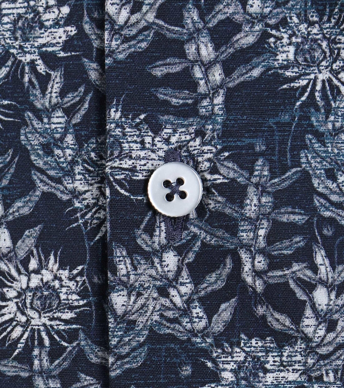 Vanguard Shirt Donkerblauw Bloemen foto 3