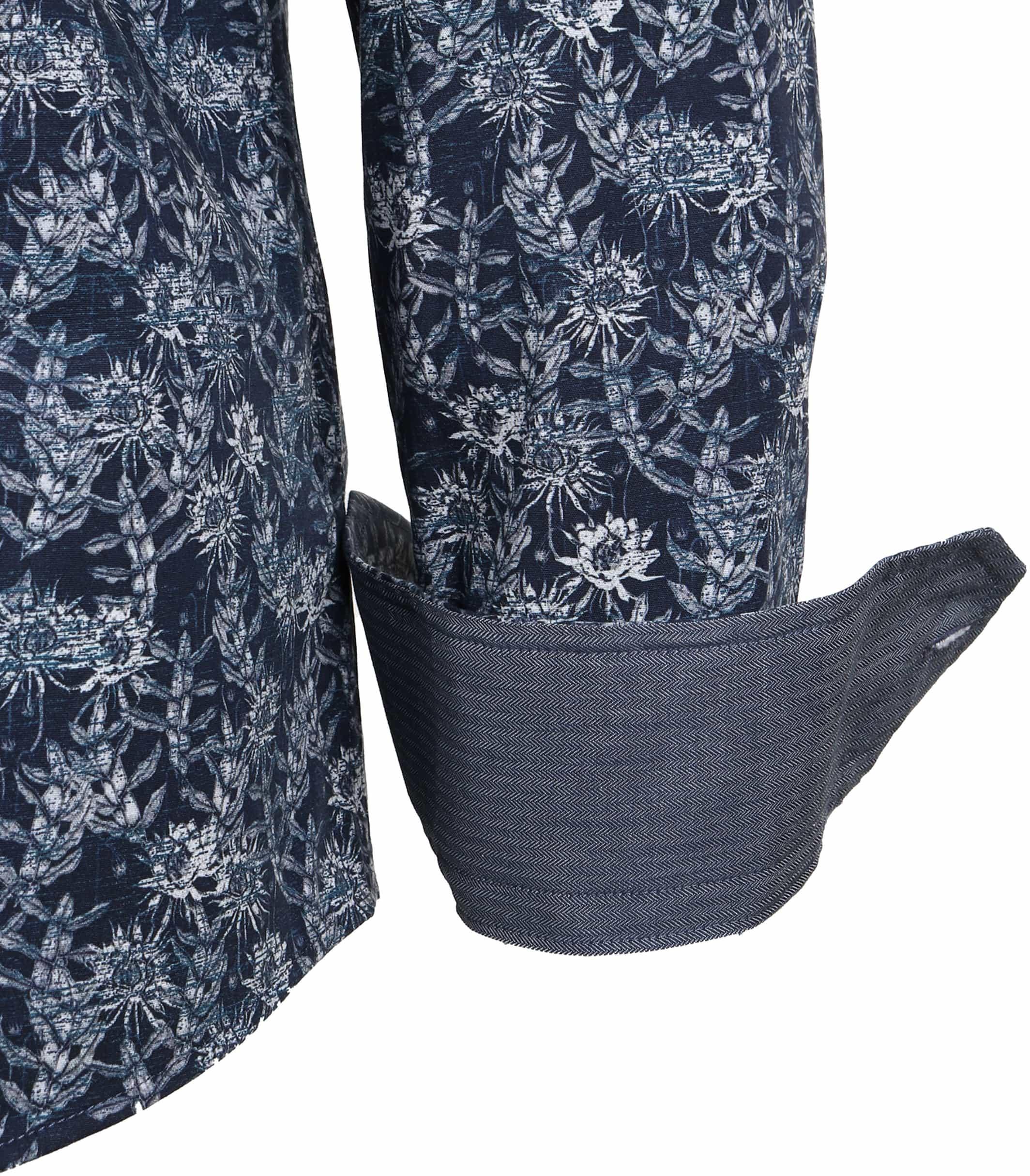 Vanguard Shirt Donkerblauw Bloemen foto 4