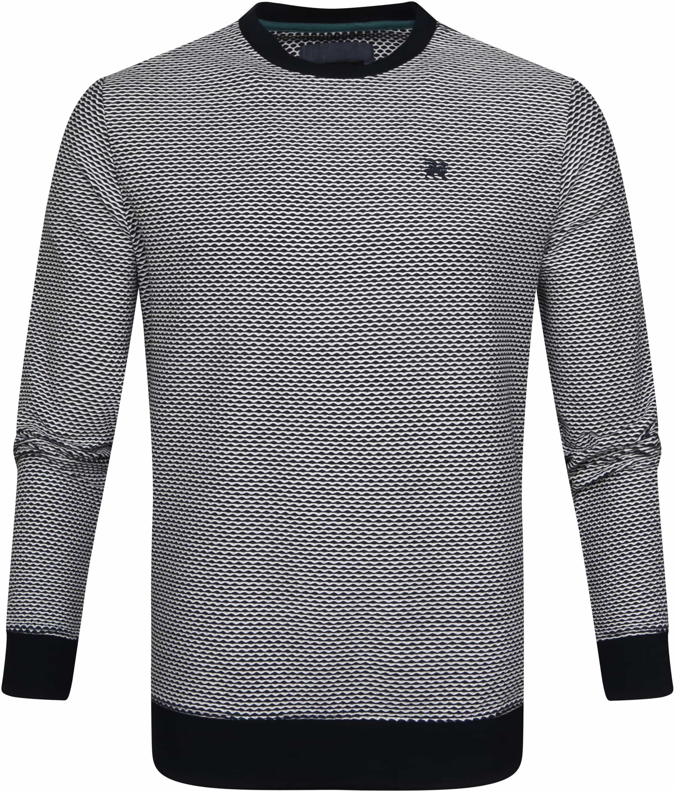 Vanguard Sweater Shadow Structure Donkerblauw foto 0