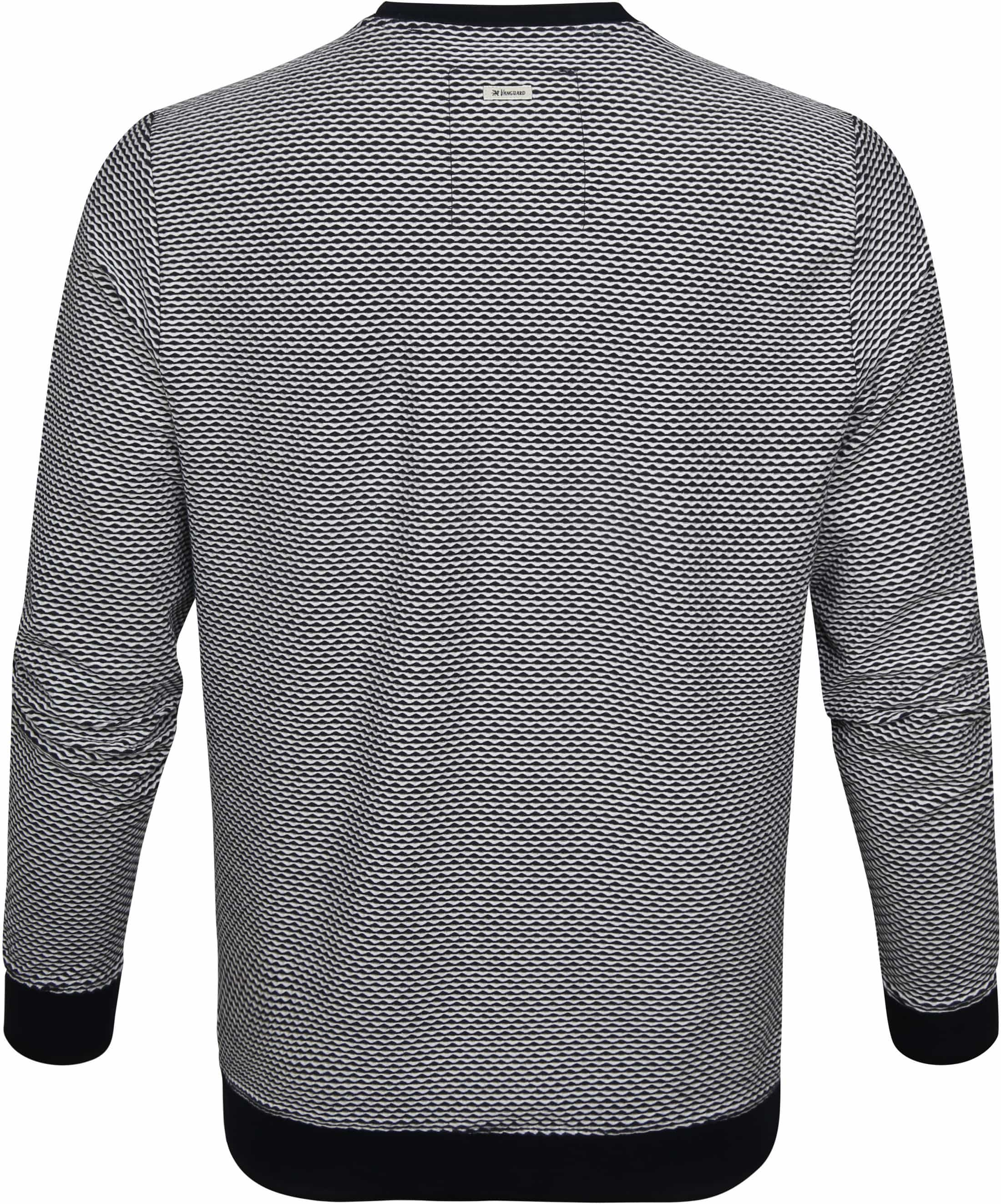 Vanguard Sweater Shadow Structure Donkerblauw foto 3