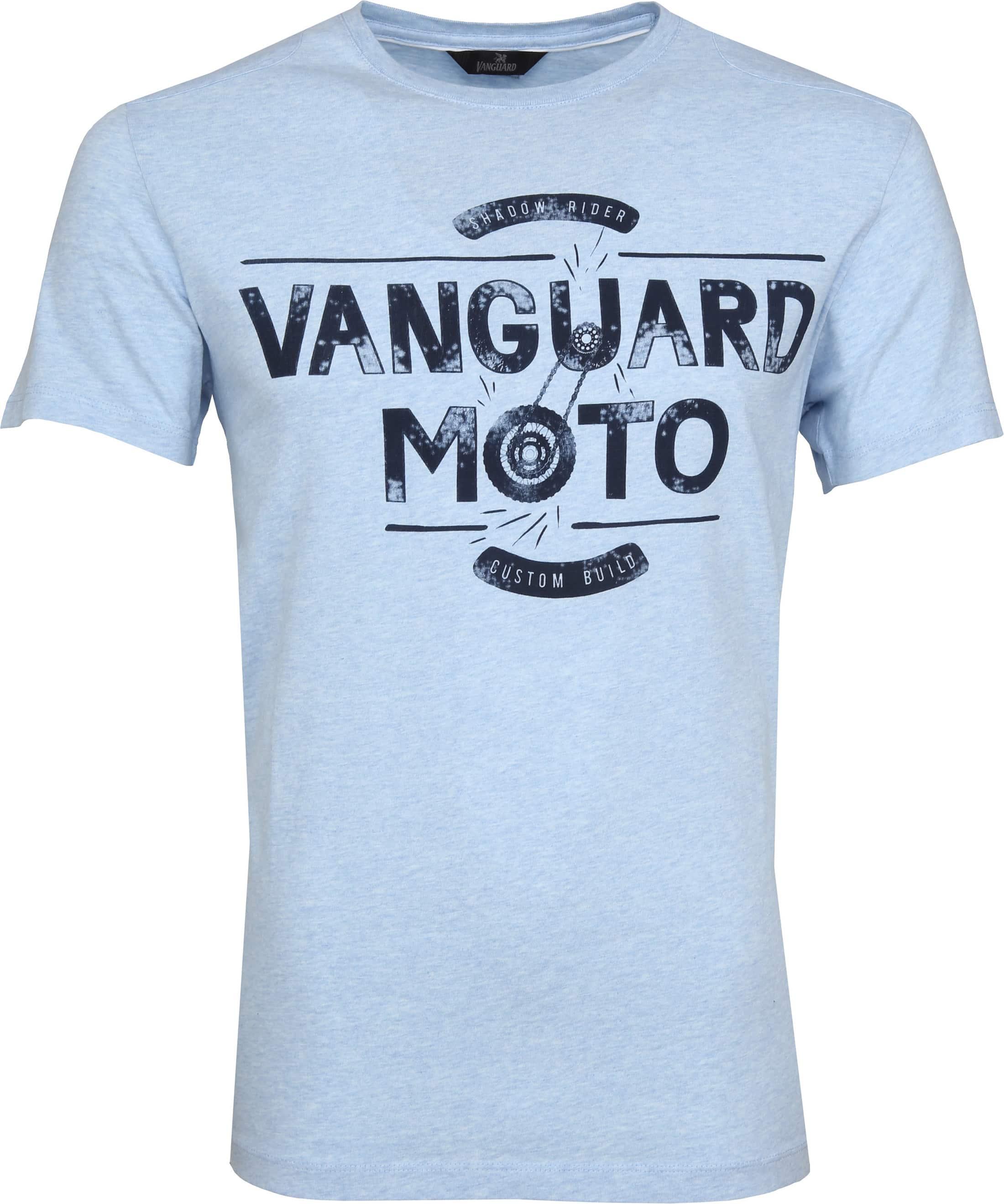 Vanguard T-shirt Lichtblauw Print foto 0