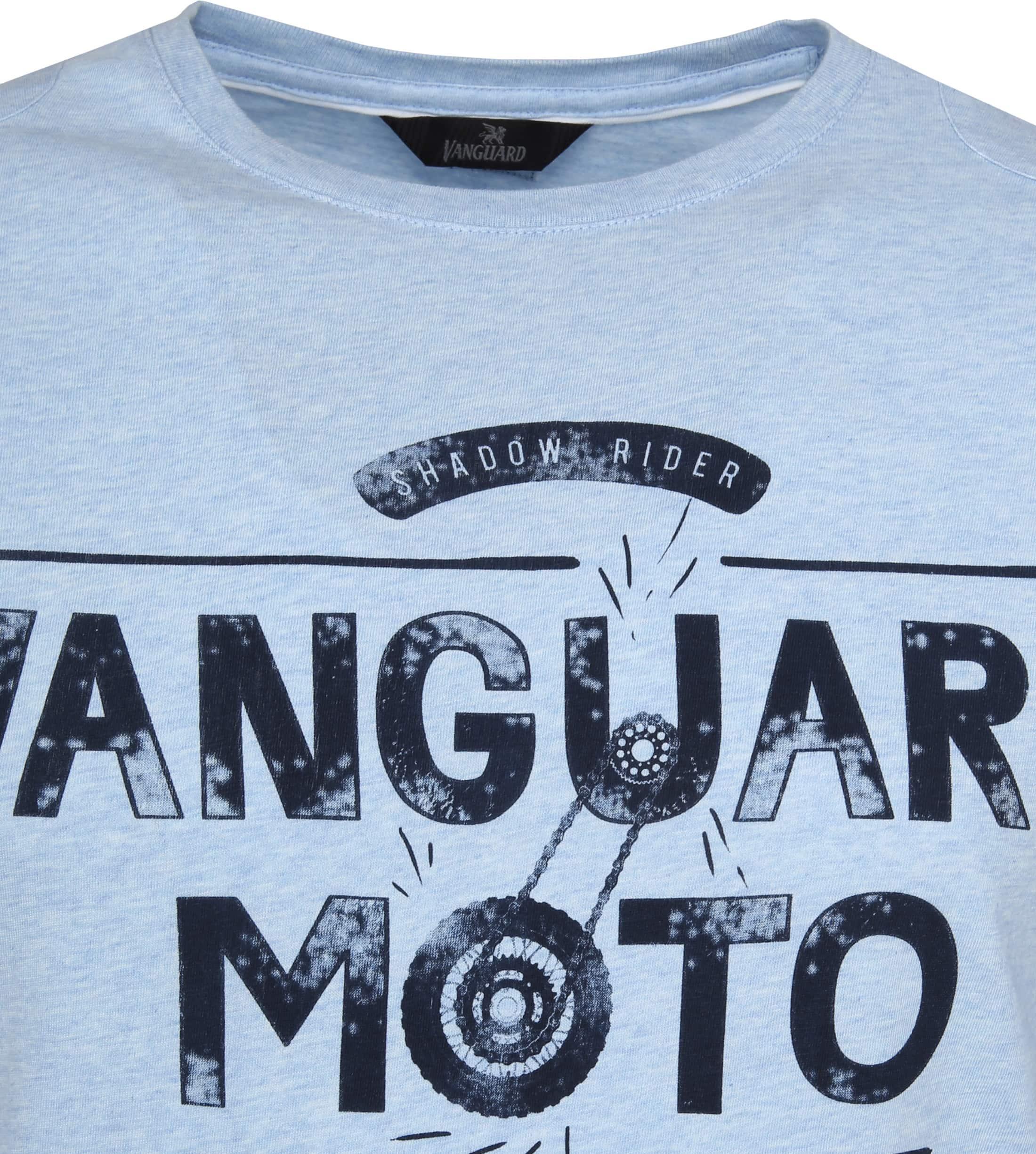 Vanguard T-shirt Lichtblauw Print foto 1