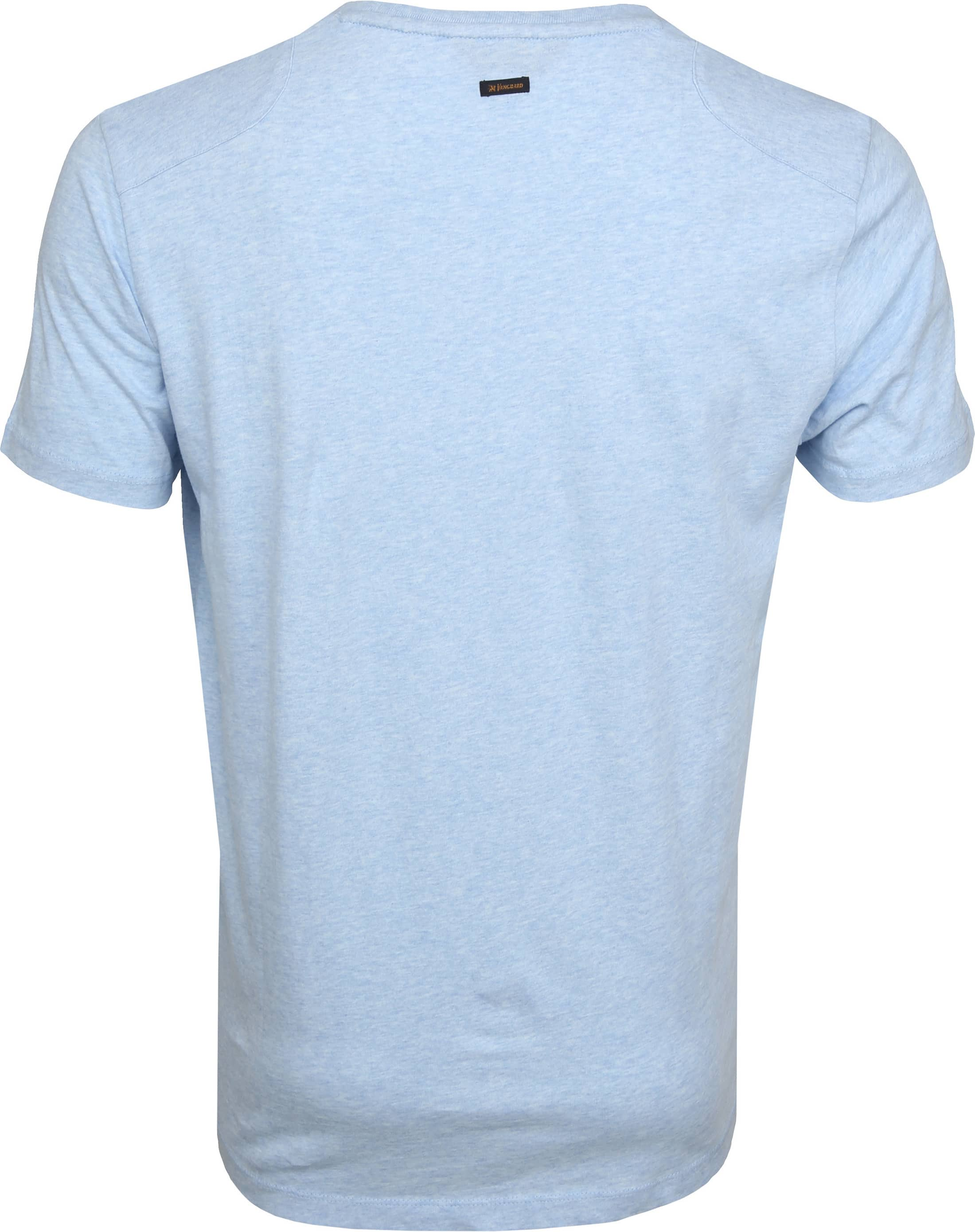Vanguard T-shirt Lichtblauw Print foto 2