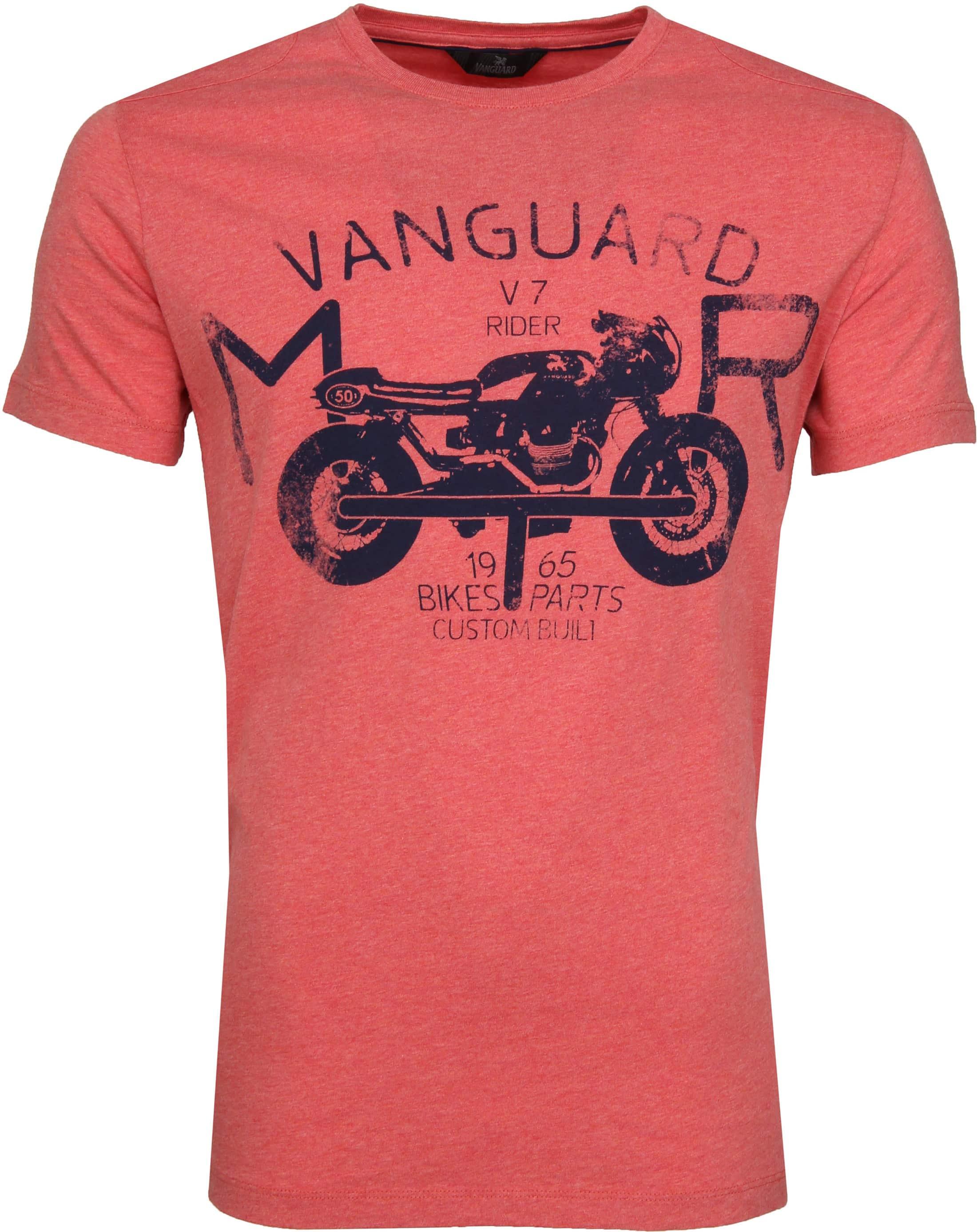 Vanguard T-shirt Print Pompeian Rood foto 0