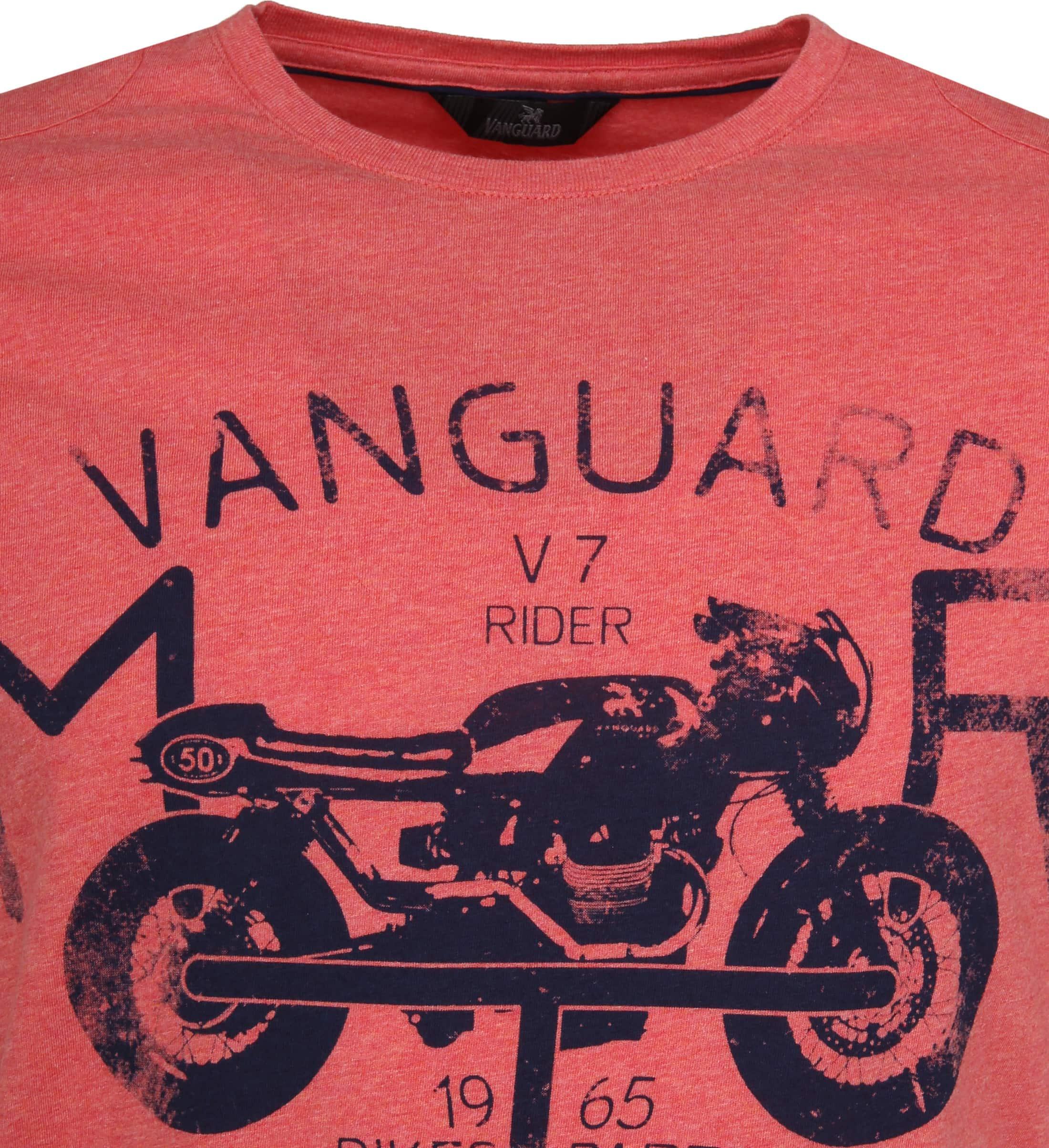 Vanguard T-shirt Print Pompeian Rood foto 1