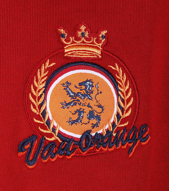 VanOrange Weste Print Dunkel Rot 02