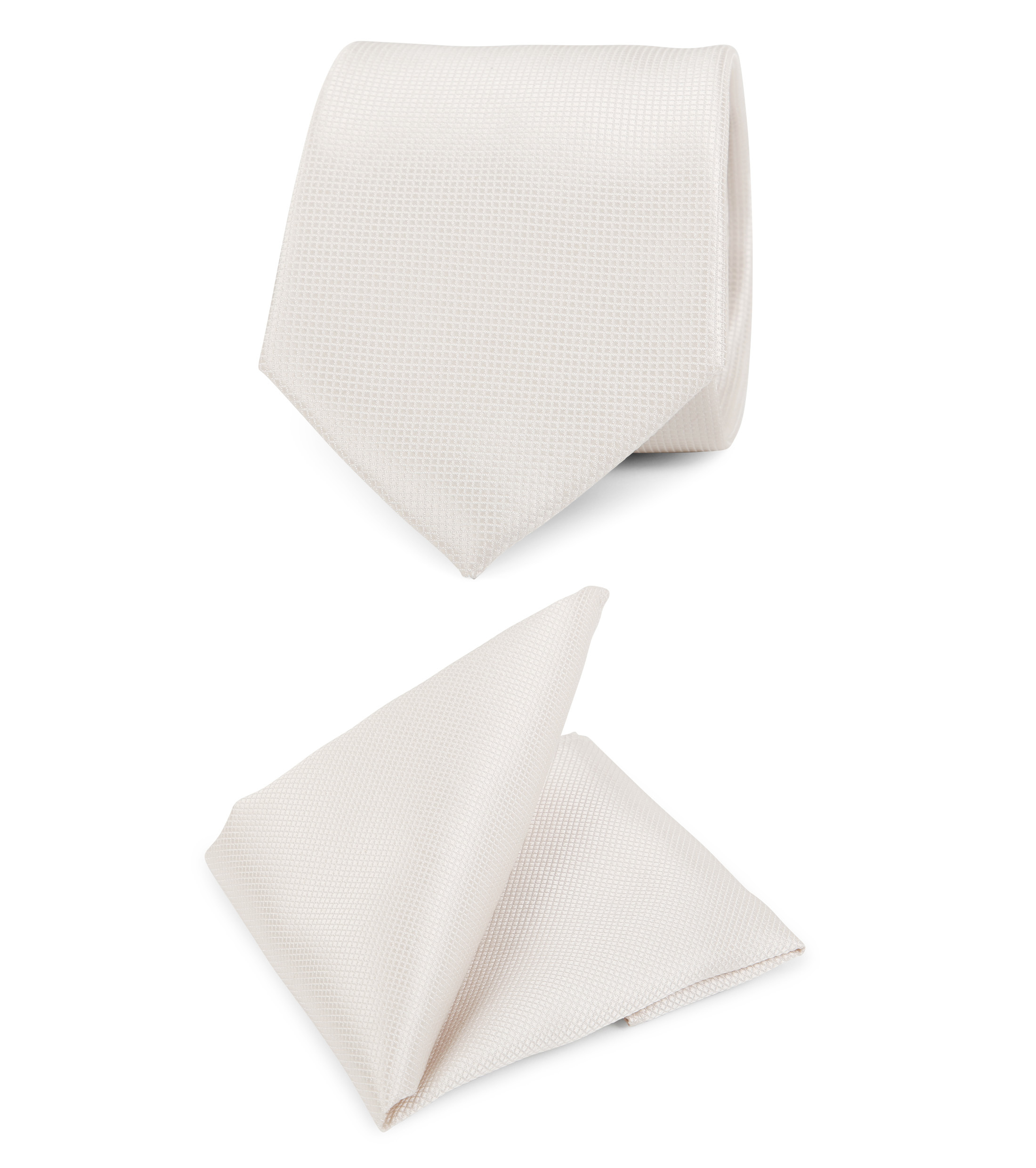 Wedding Tie + Pocketsquare Off-white foto 0