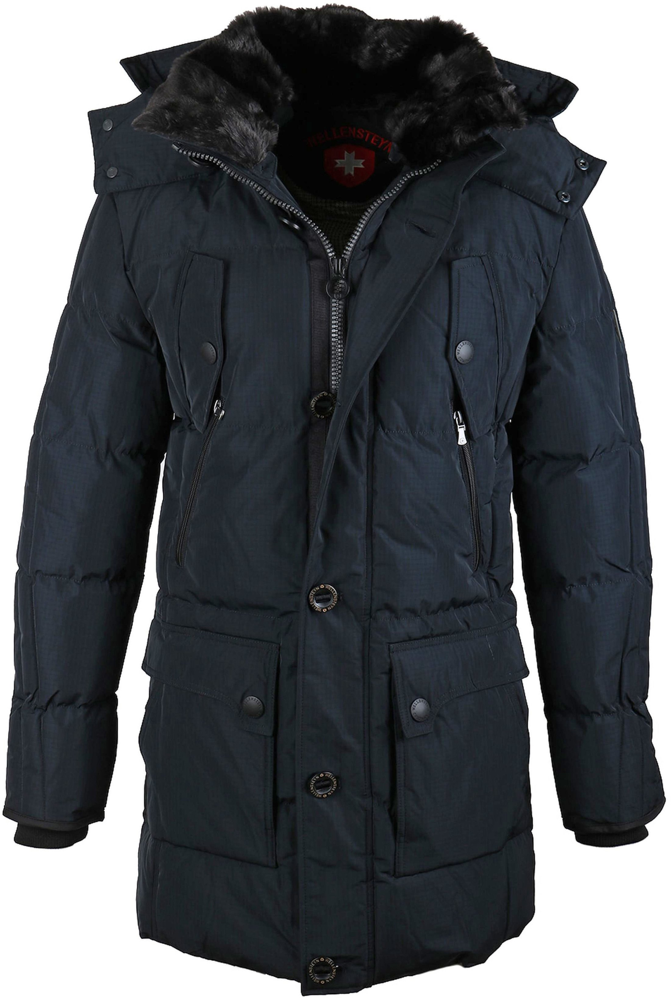 Donkerblauwe Winterjas.Wellensteyn Centurion Winterjas Donkerblauw Cent 519 Nac