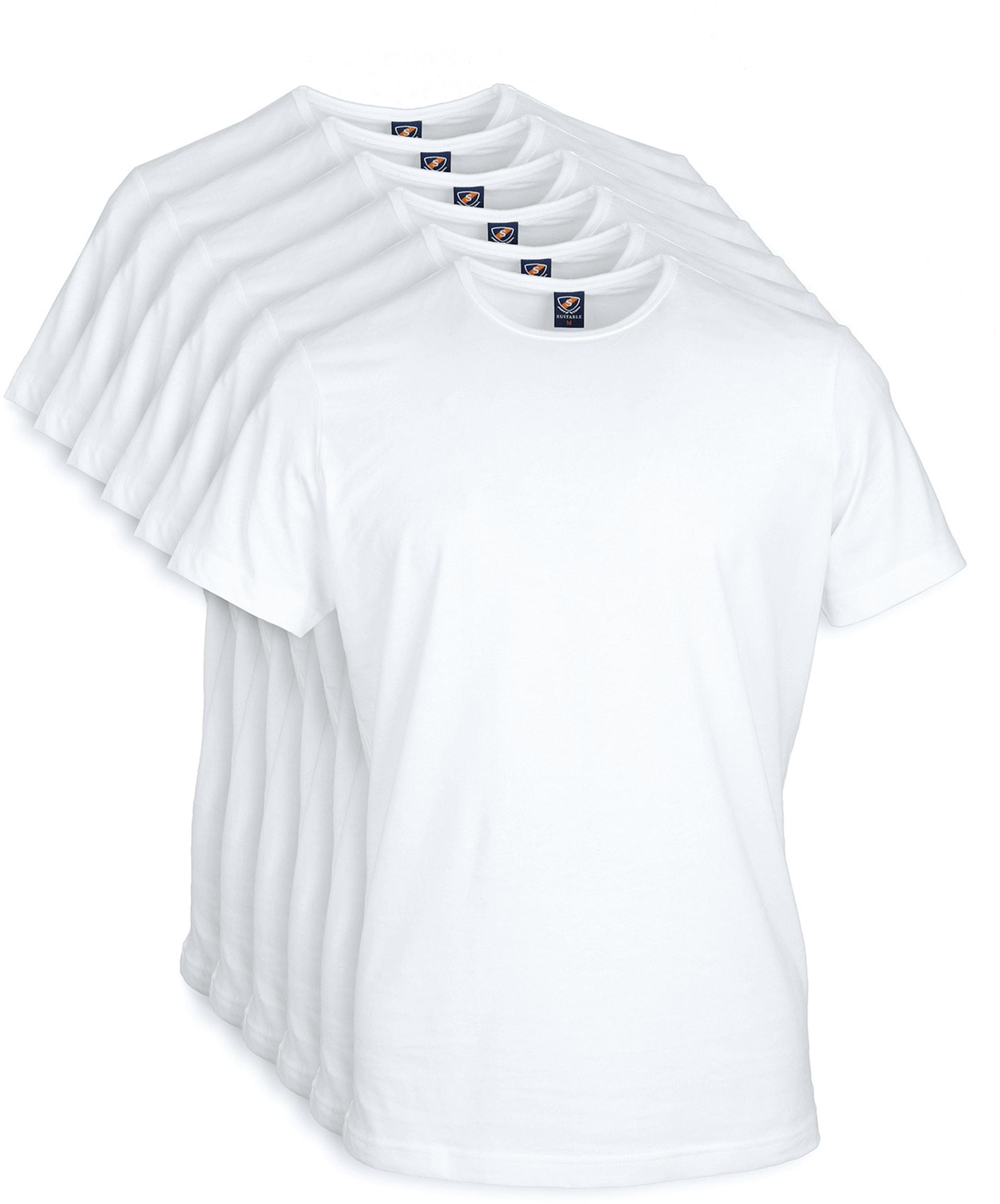 White T-shirt O-Neck 6-Pack foto 0