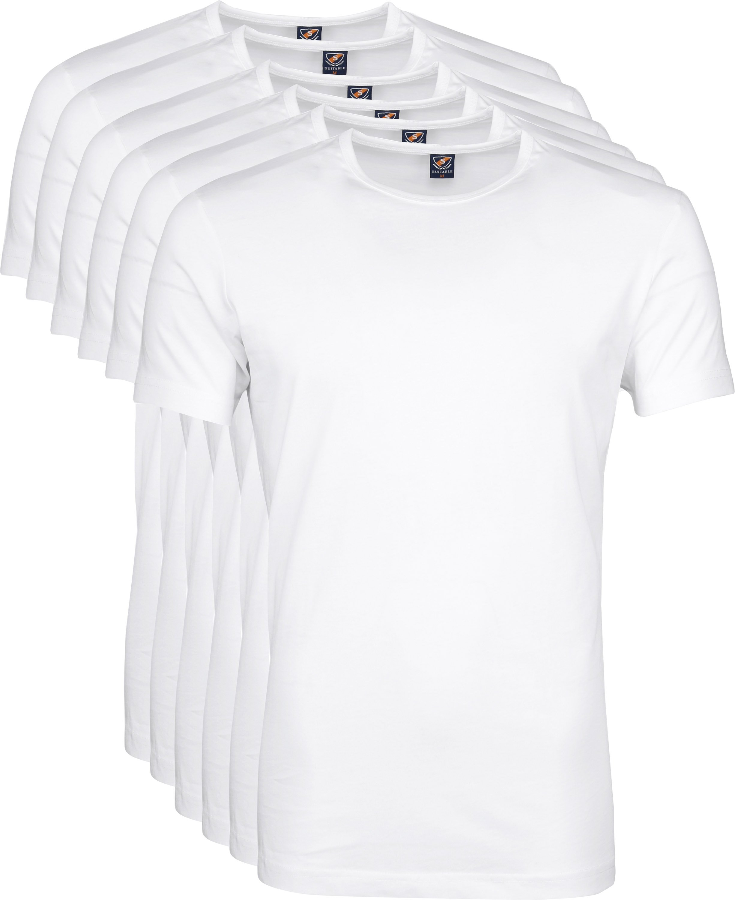 White T-shirt O-Neck 6-Pack
