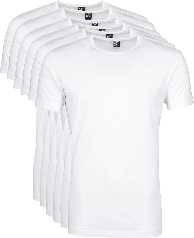 White T-shirt O-Neck 6-Pack foto 6