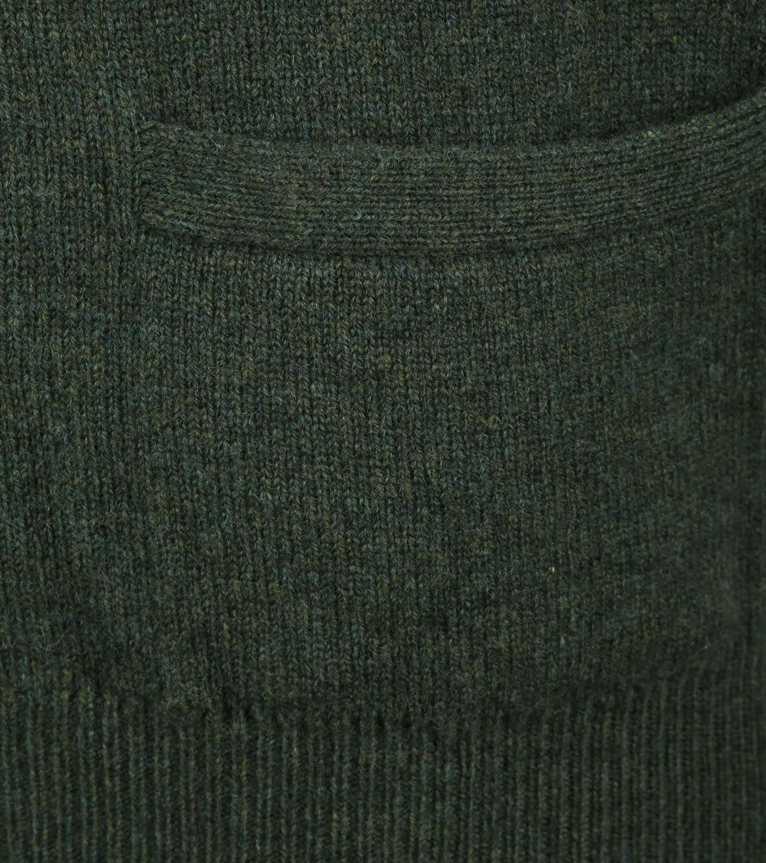 William Lockie Lambswool Cardigan Dark Green