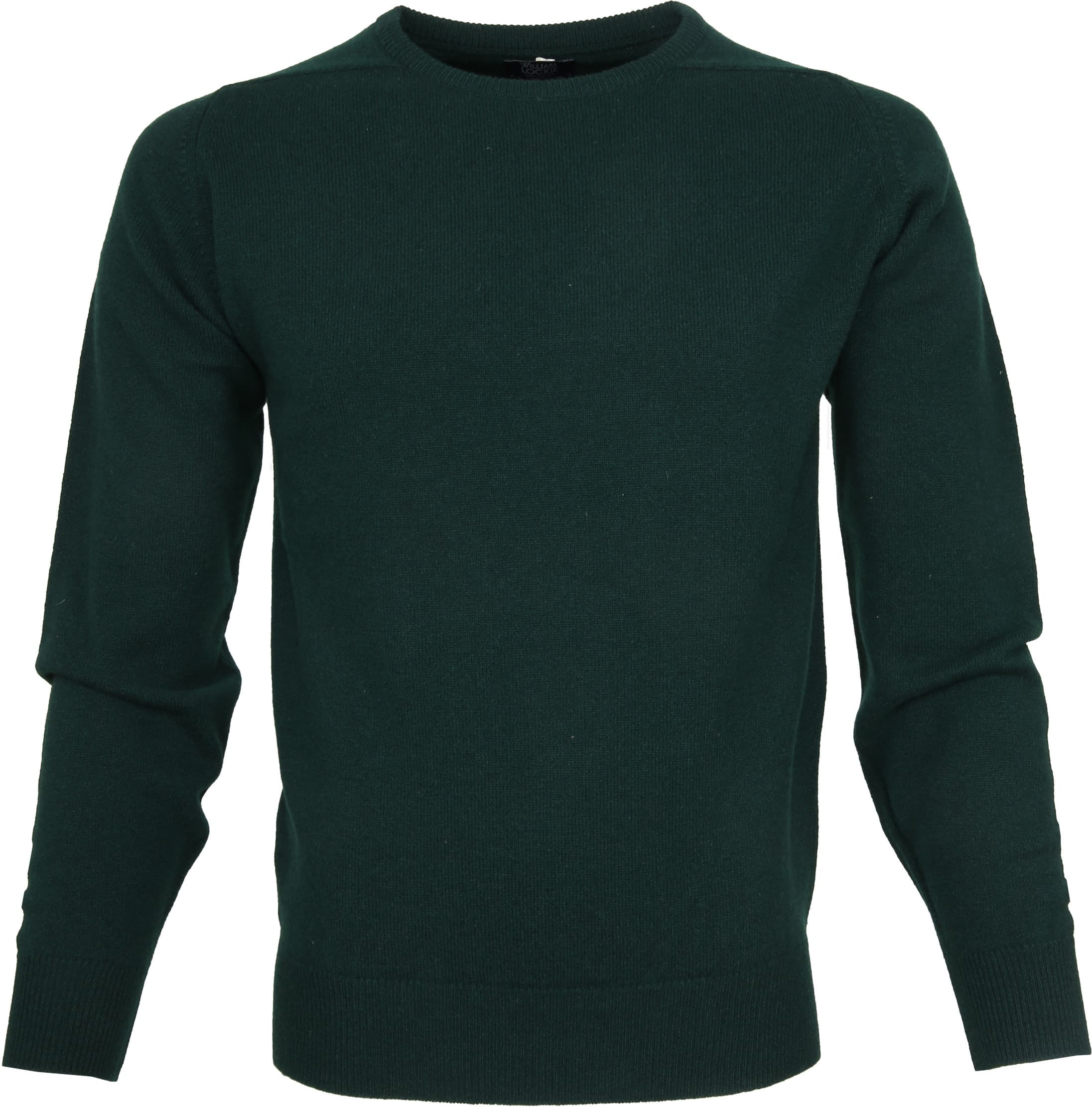 William Lockie Lambswool Mos Groen foto 0
