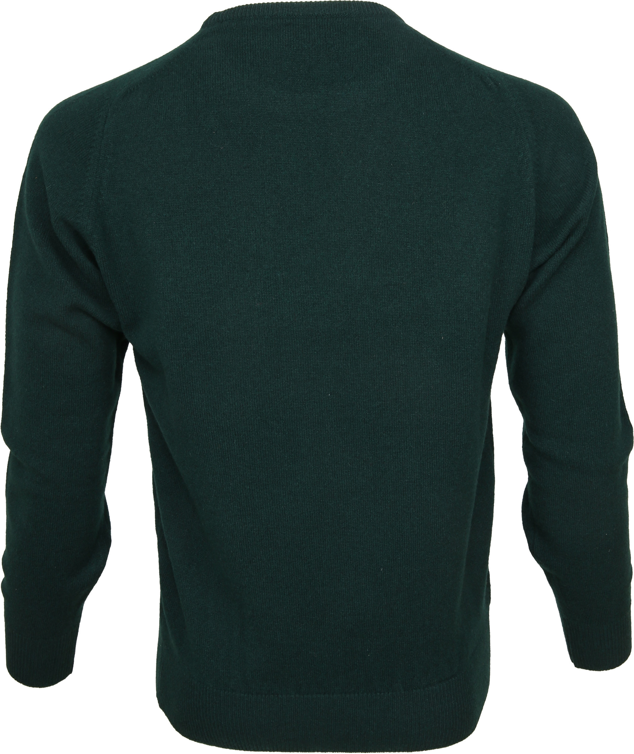 William Lockie Lambswool Mos Groen foto 2