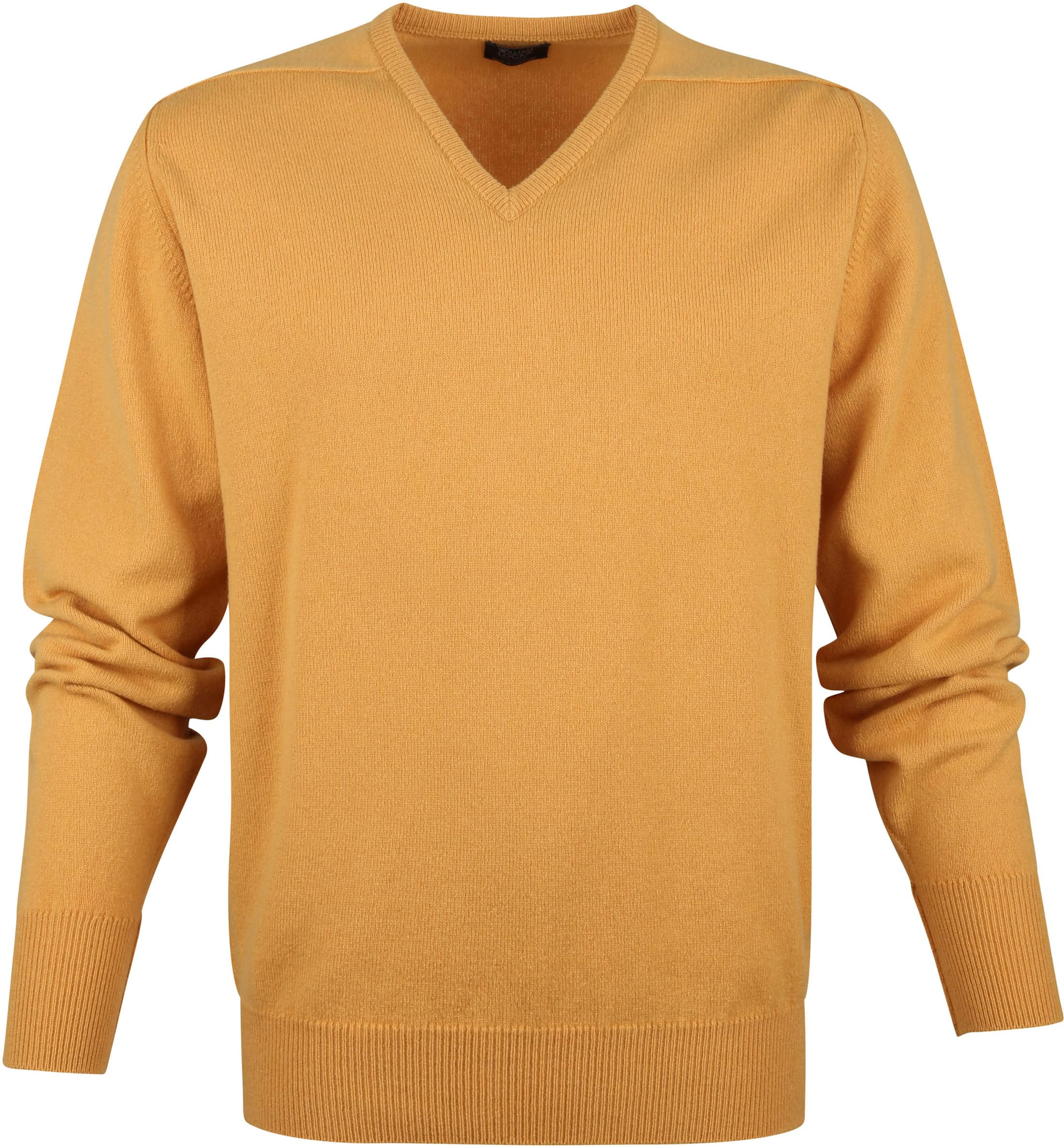 William Lockie V-Neck Lambswool Yellow