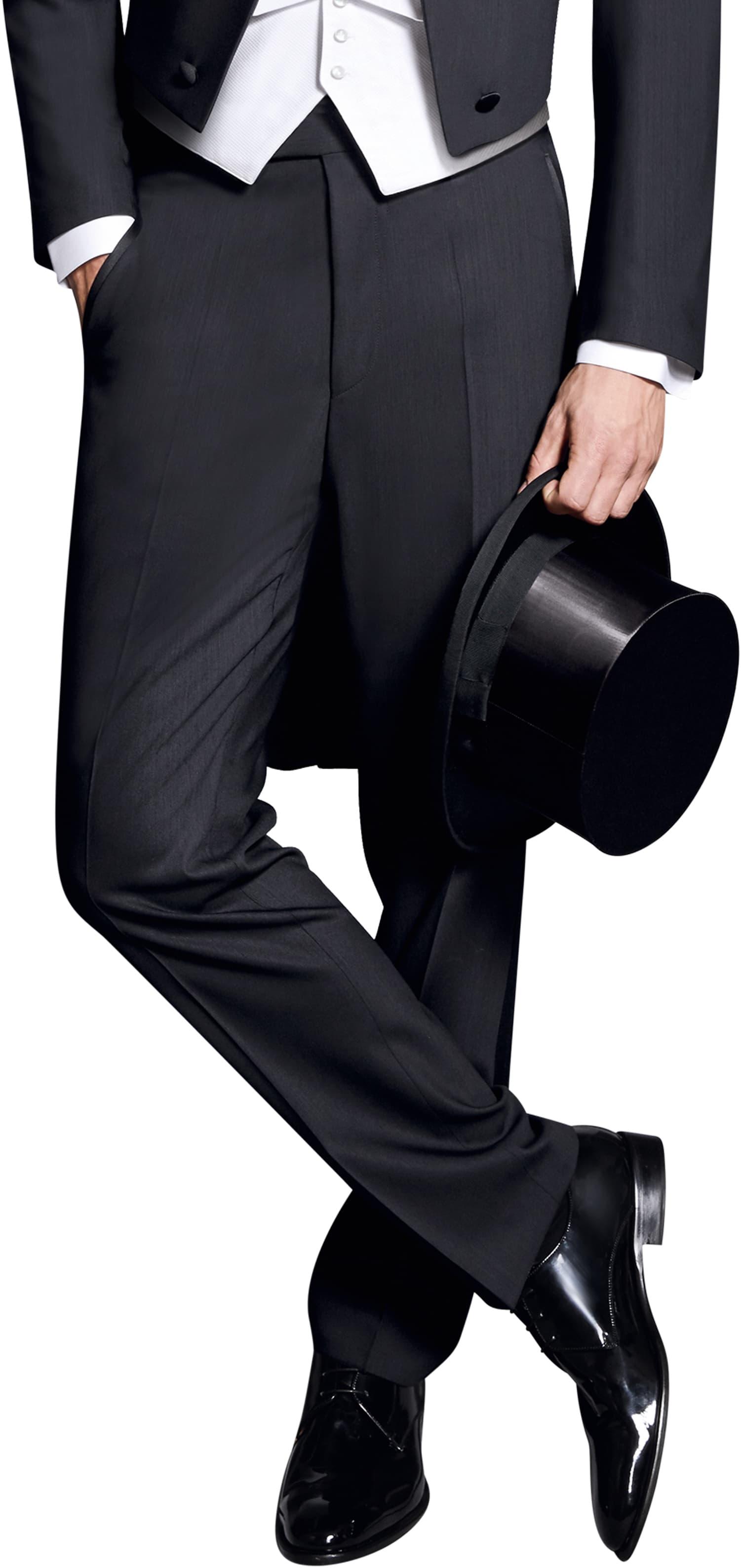 Wilvorst White Tie Pants 100% Wool foto 0
