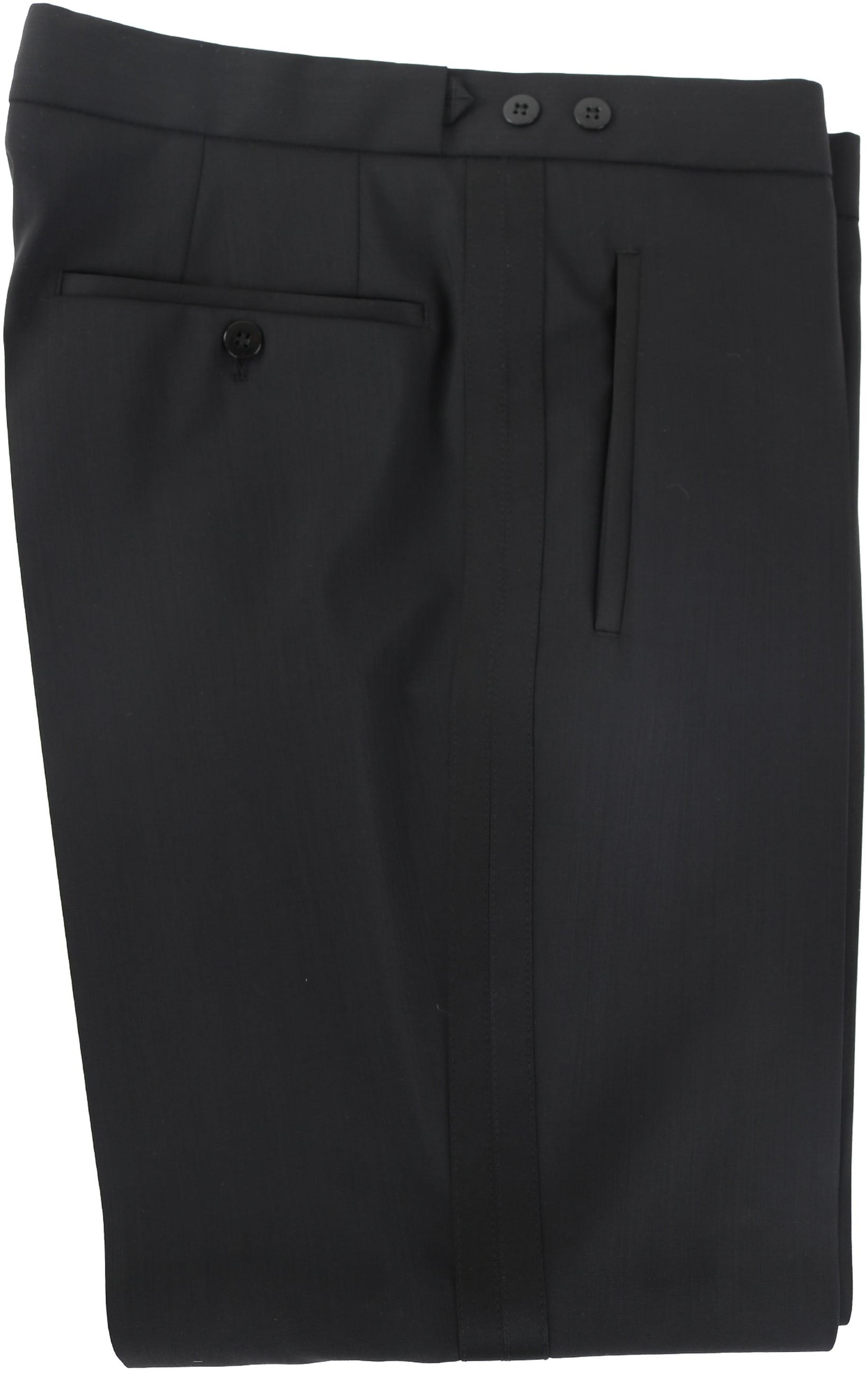 Wilvorst White Tie Pants 100% Wool foto 1