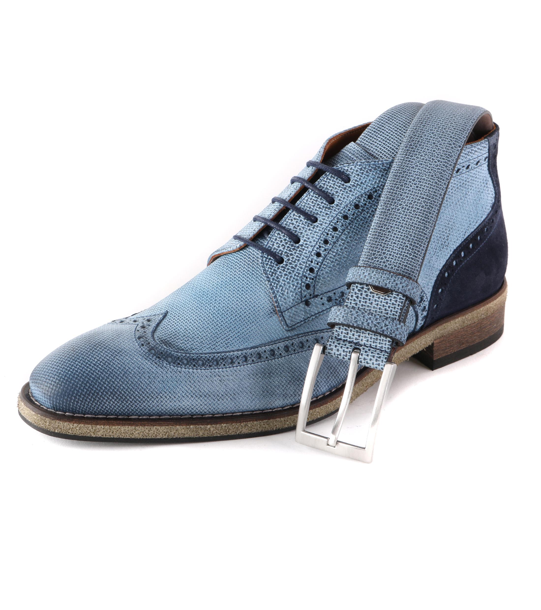 Wingtip STBL Boot Jeans Blauw foto 4