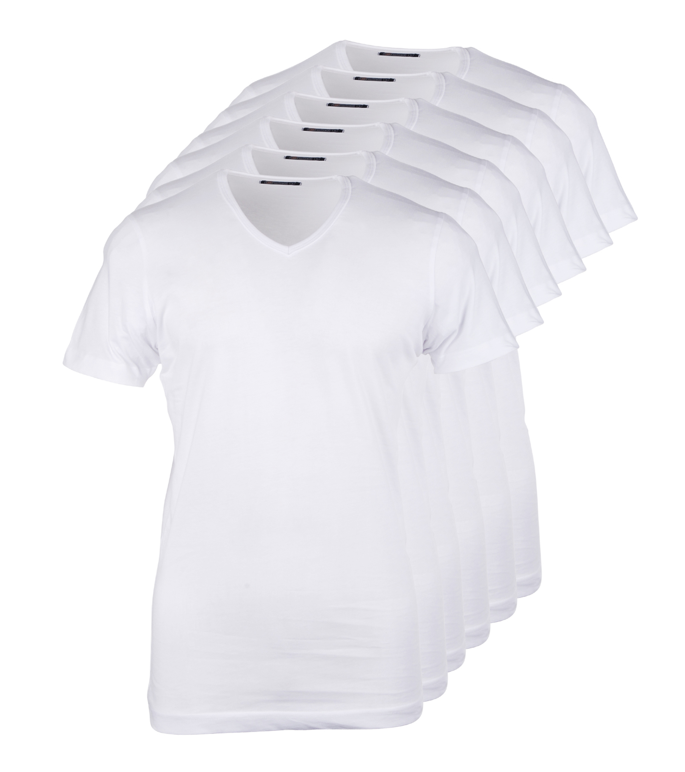 Wit t shirt 6pack v neck for Designhotel maastricht comfort xl