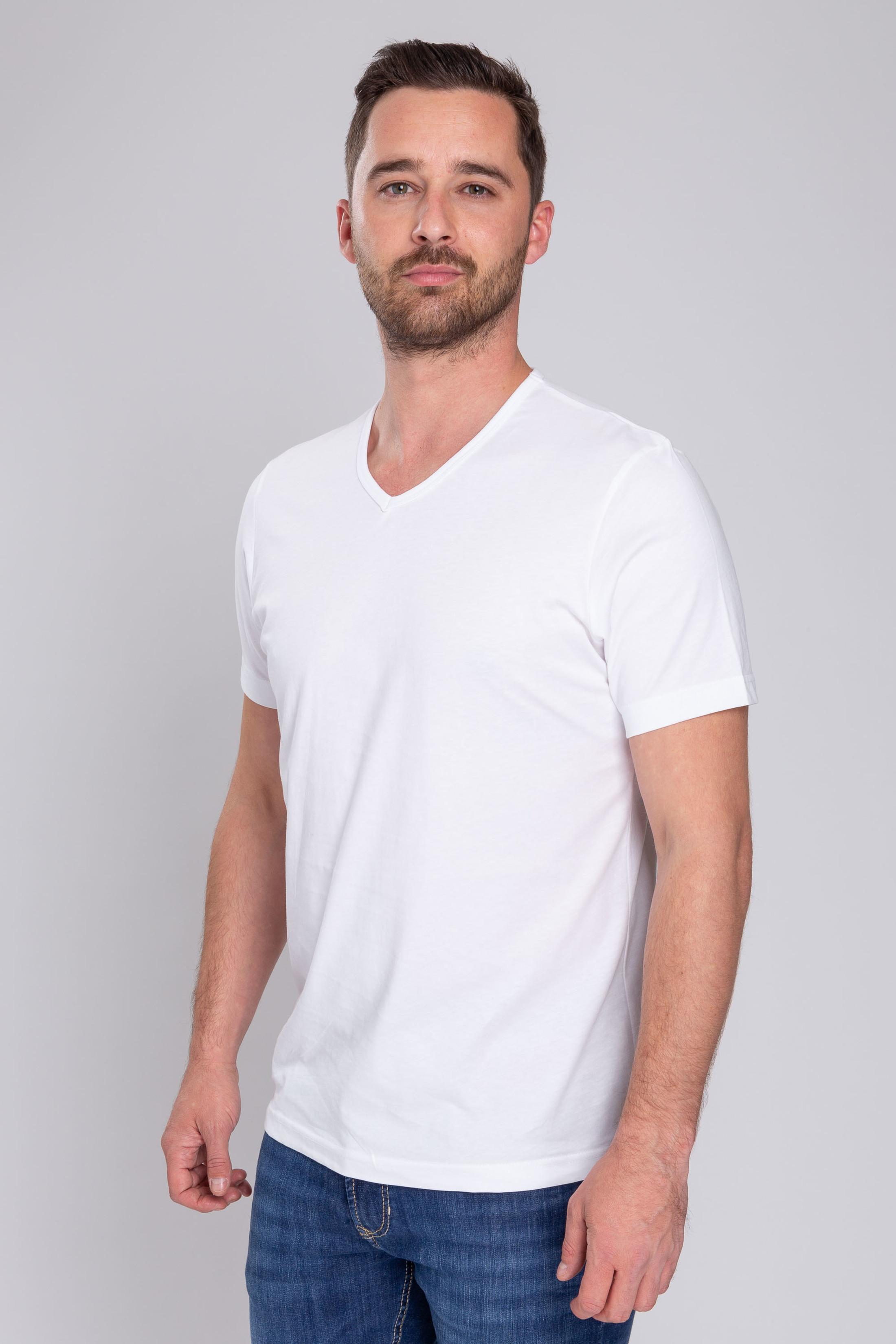 Wit T-Shirt 6Pack V-neck foto 5