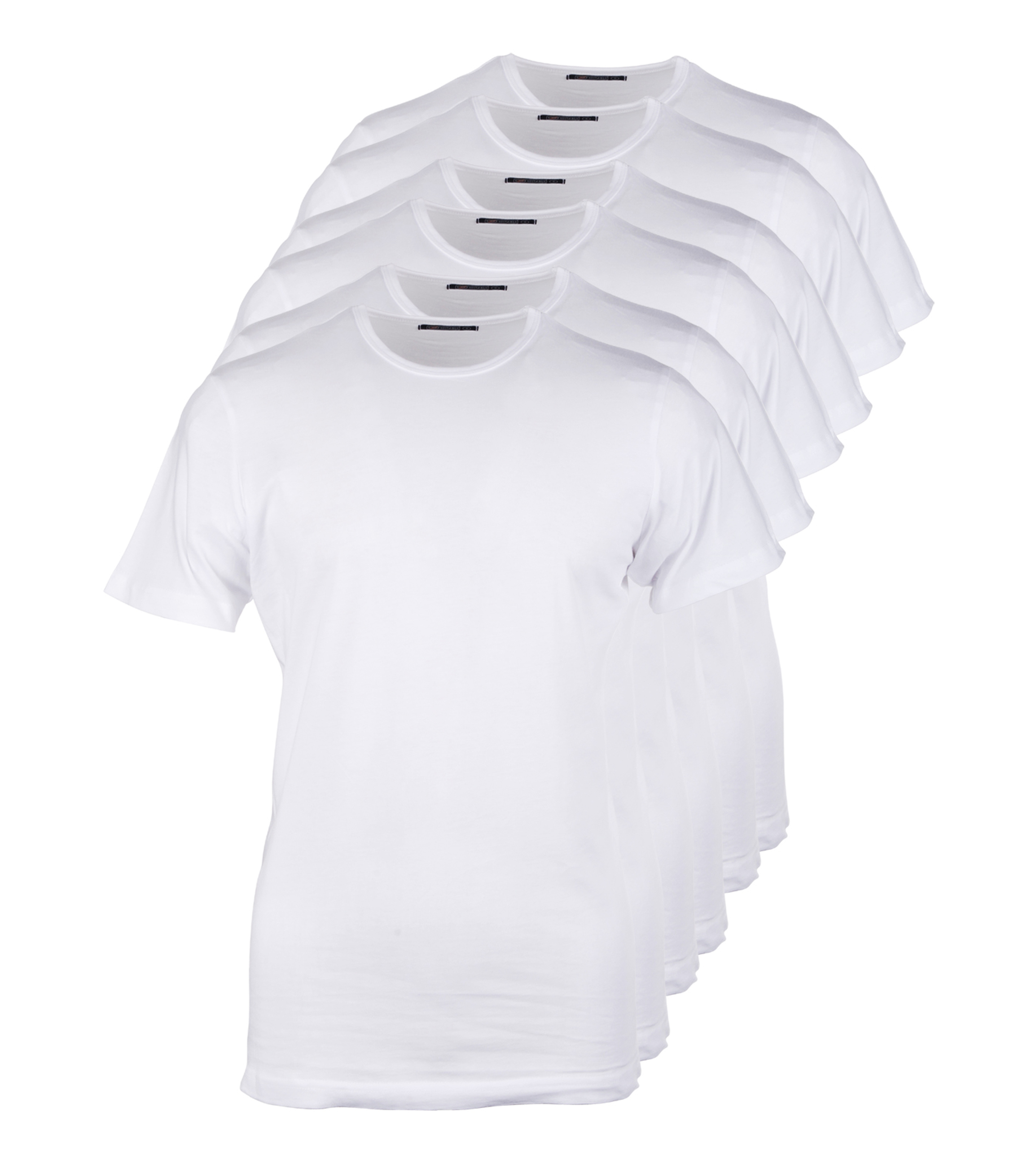 Wit t shirts 6pack witte t shirts kopen suitableshop for Designhotel maastricht comfort xl