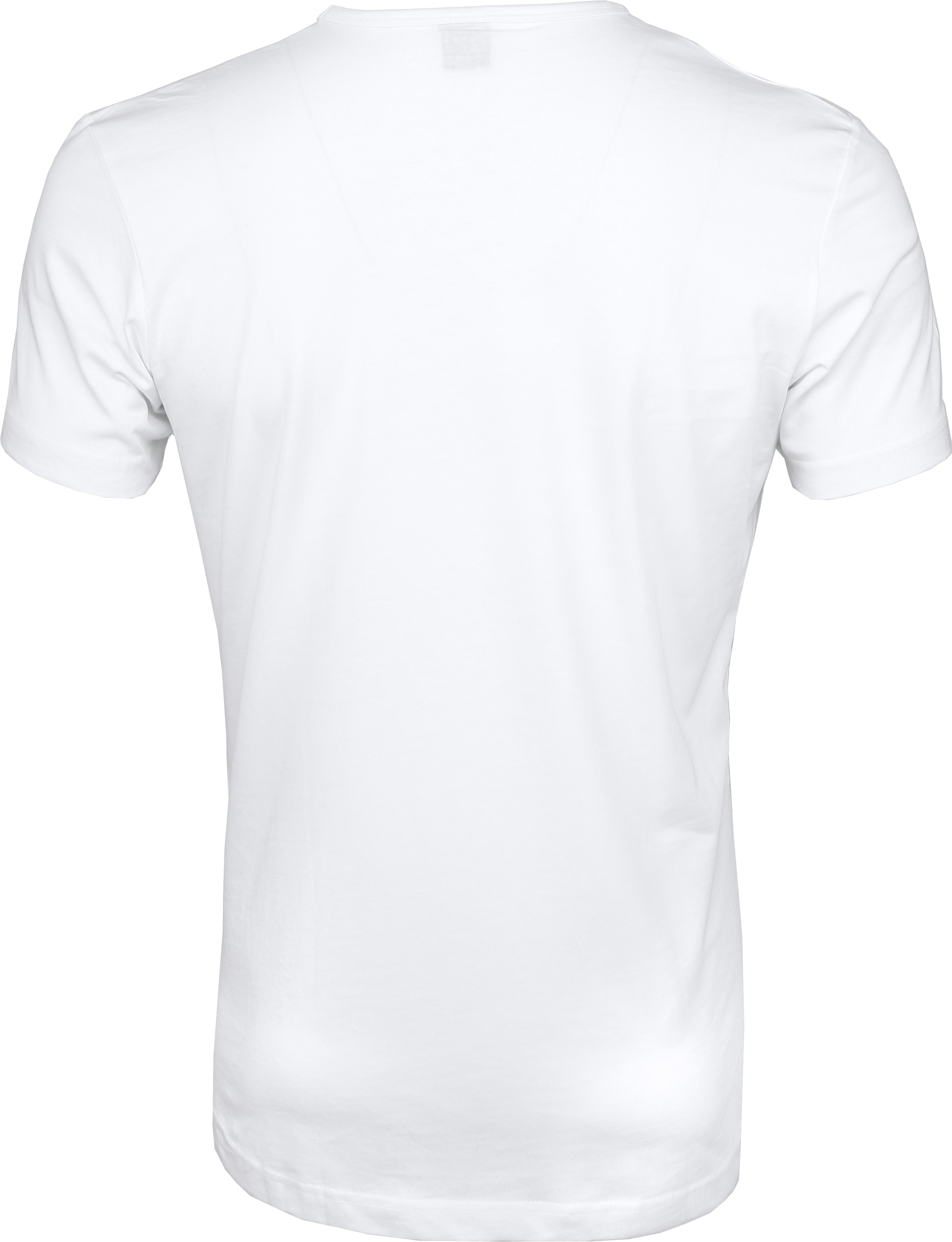 Wit T-Shirts 6Pack O-neck foto 5